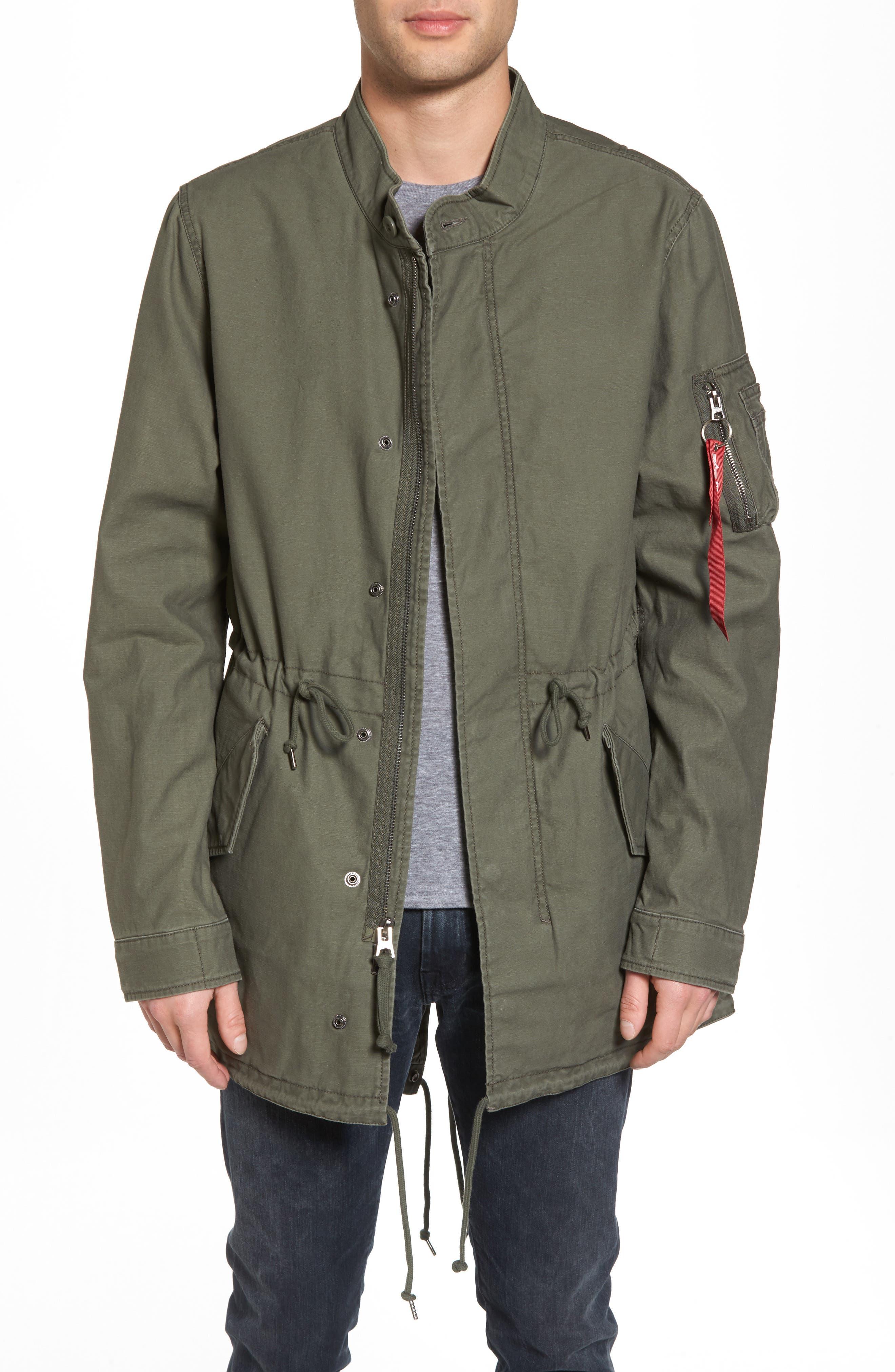 Recruit Fishtail Jacket,                             Main thumbnail 1, color,                             M-65 Olive