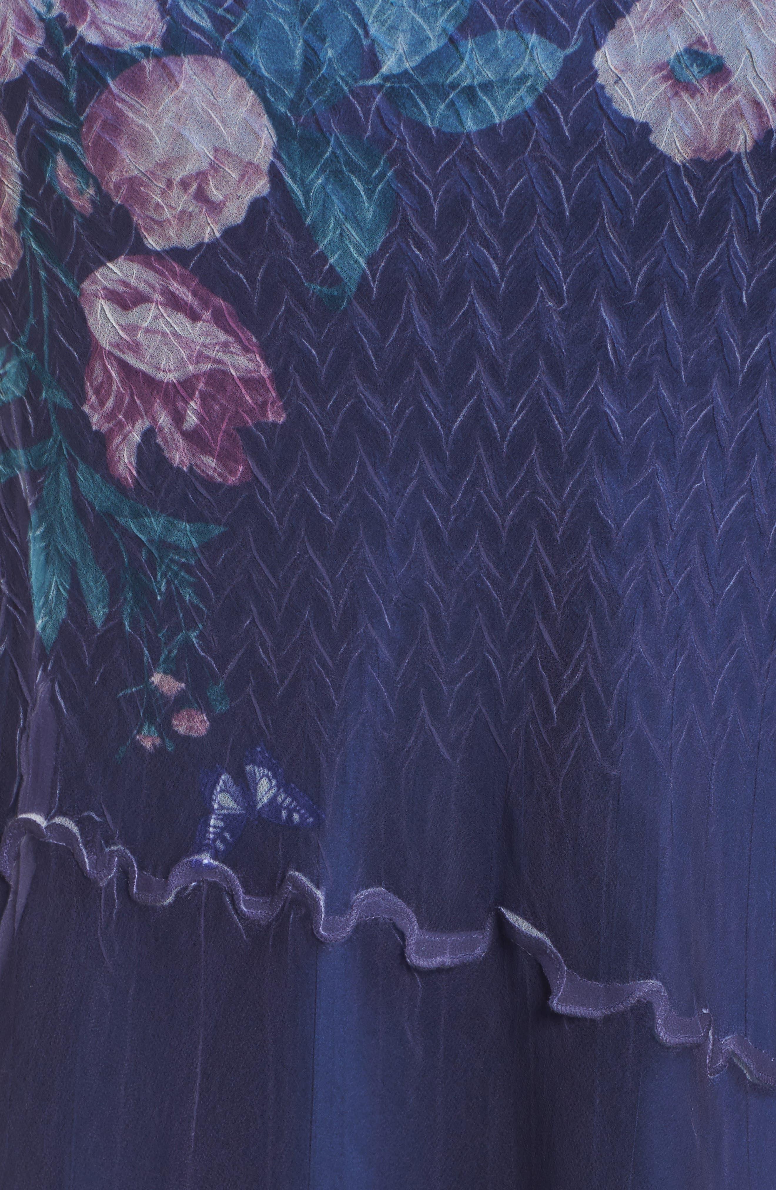 Alternate Image 5  - Komarov Chiffon Handkerchief Hem Dress (Plus Size)