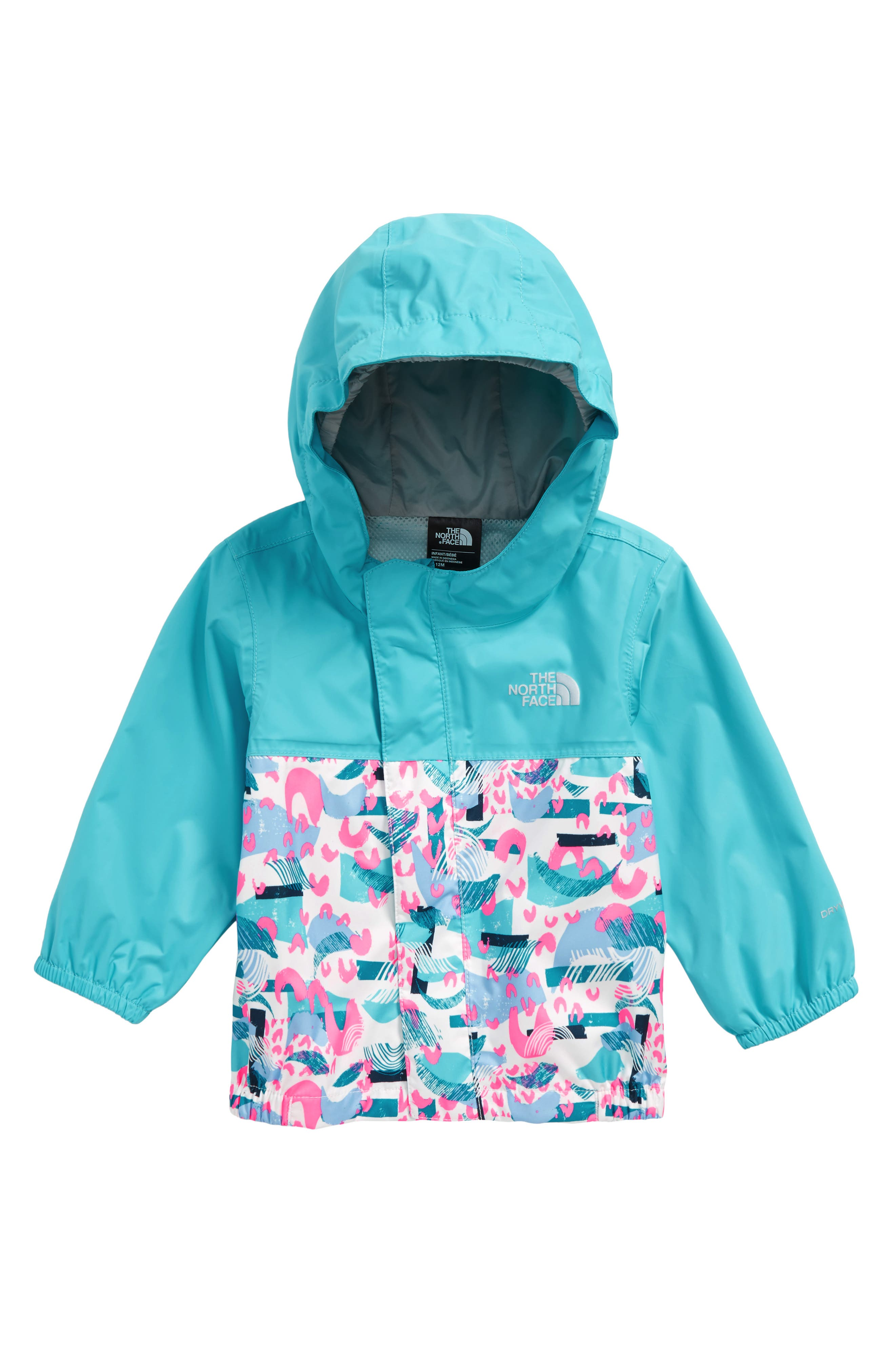 Tailout Hooded Rain Jacket,                         Main,                         color, Blue Curacao