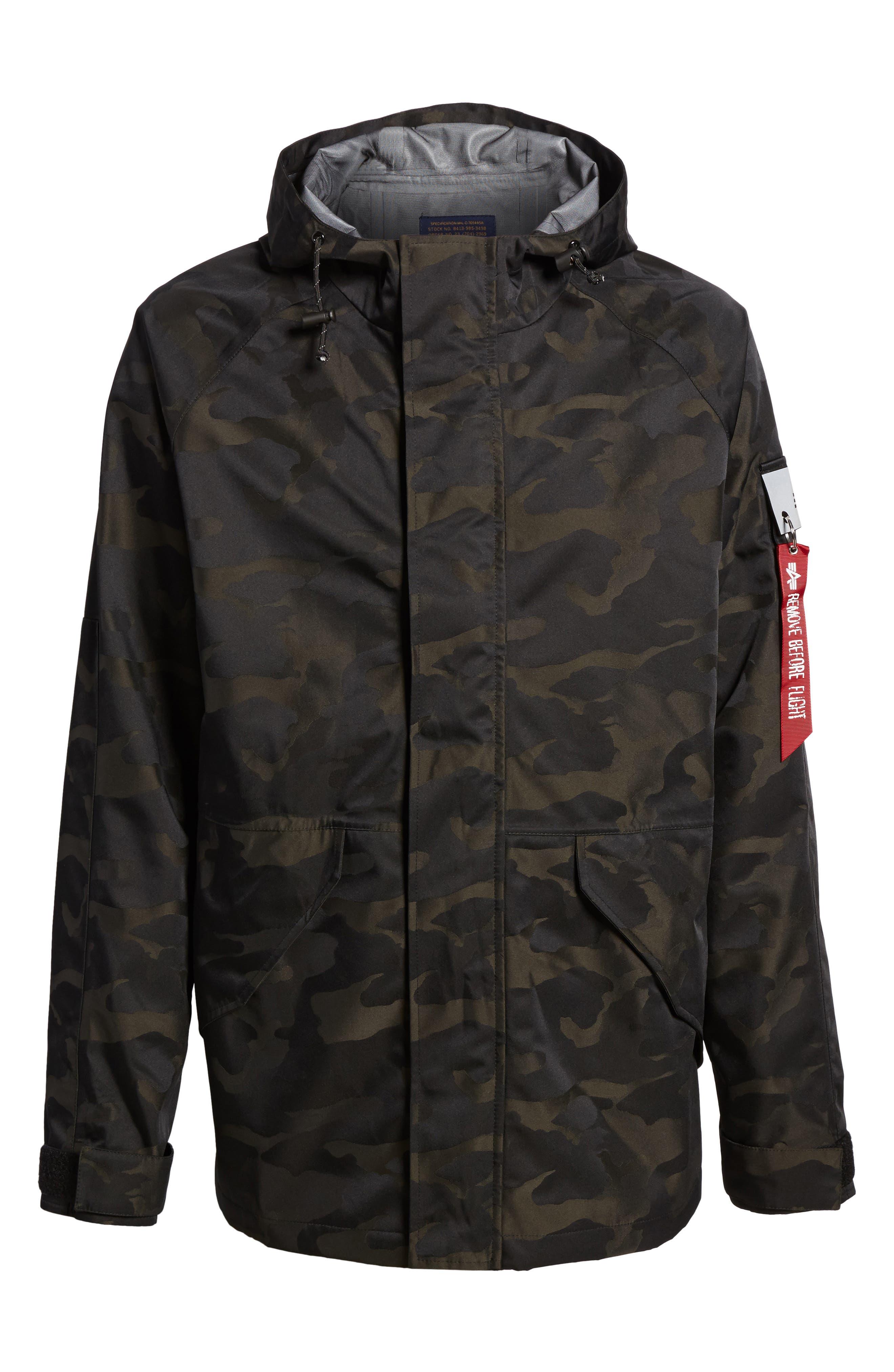 Torrent Camo Jacket,                             Alternate thumbnail 6, color,                             Black Camo