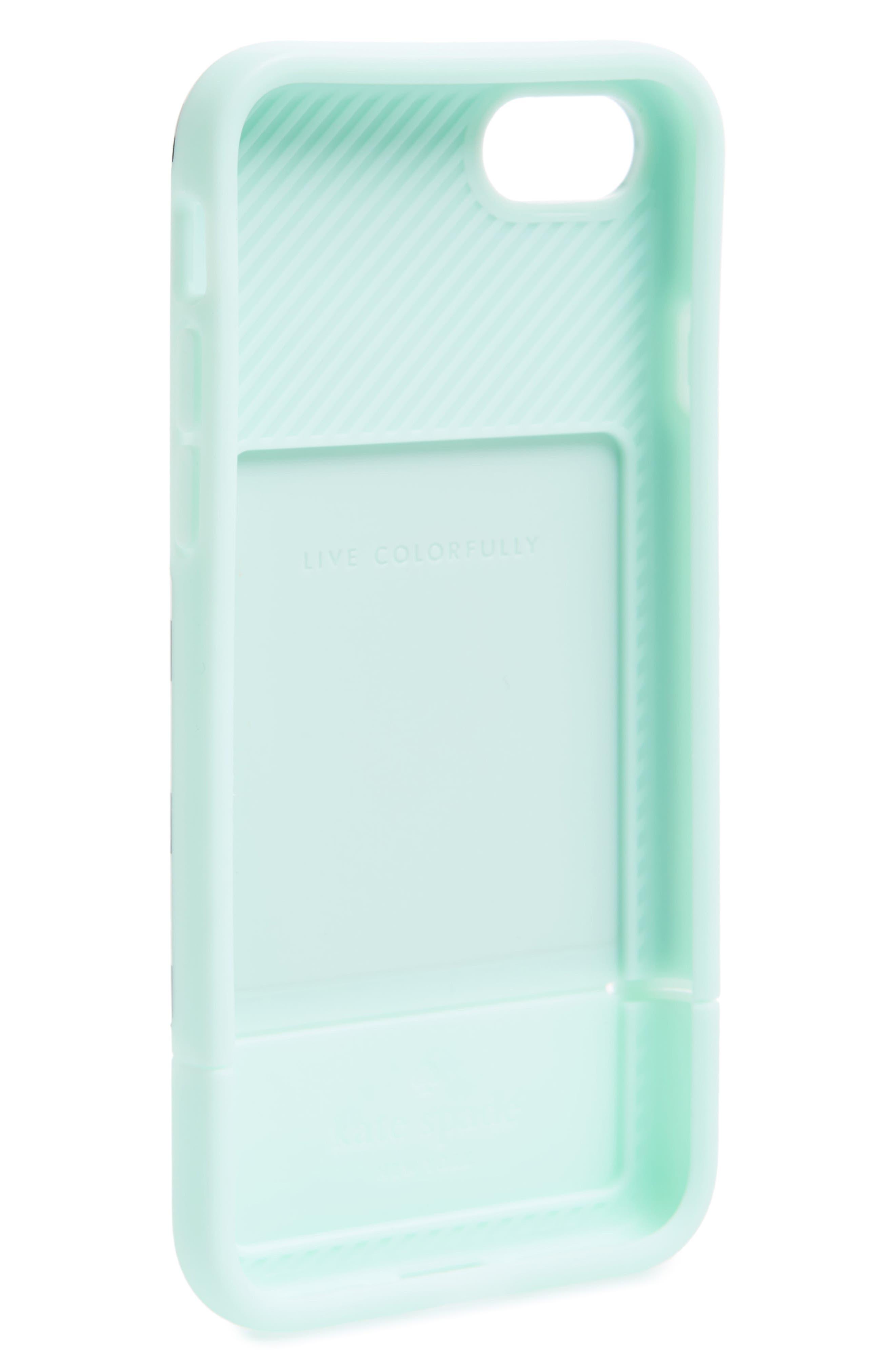 Alternate Image 2  - kate spade new york stripe credit card iPhone 7/8 & 7/8 Plus case