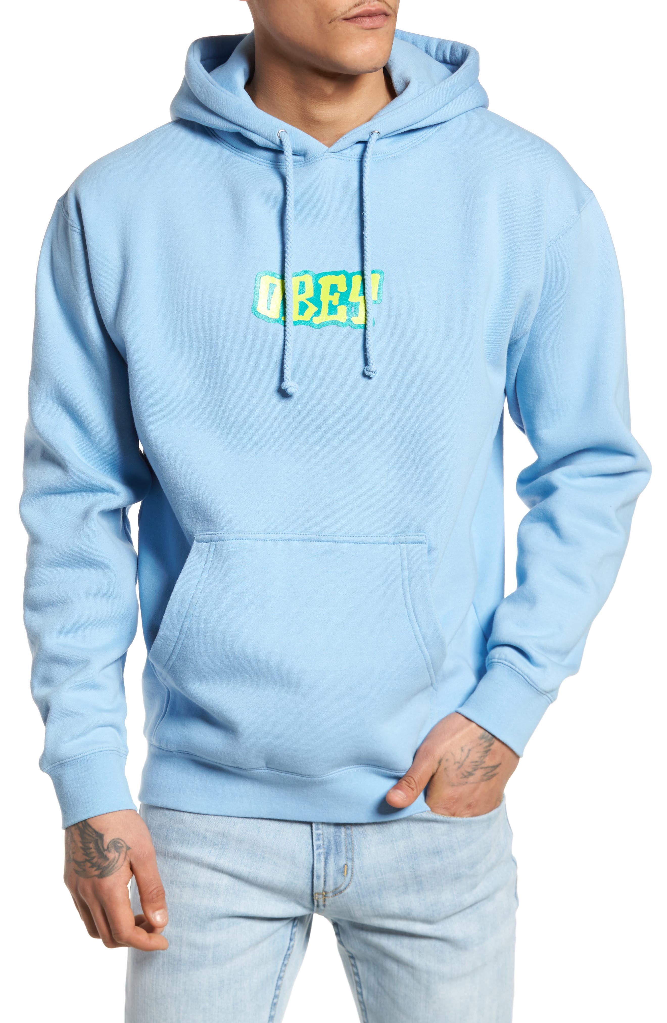Better Days Hoodie,                         Main,                         color, Powder Blue