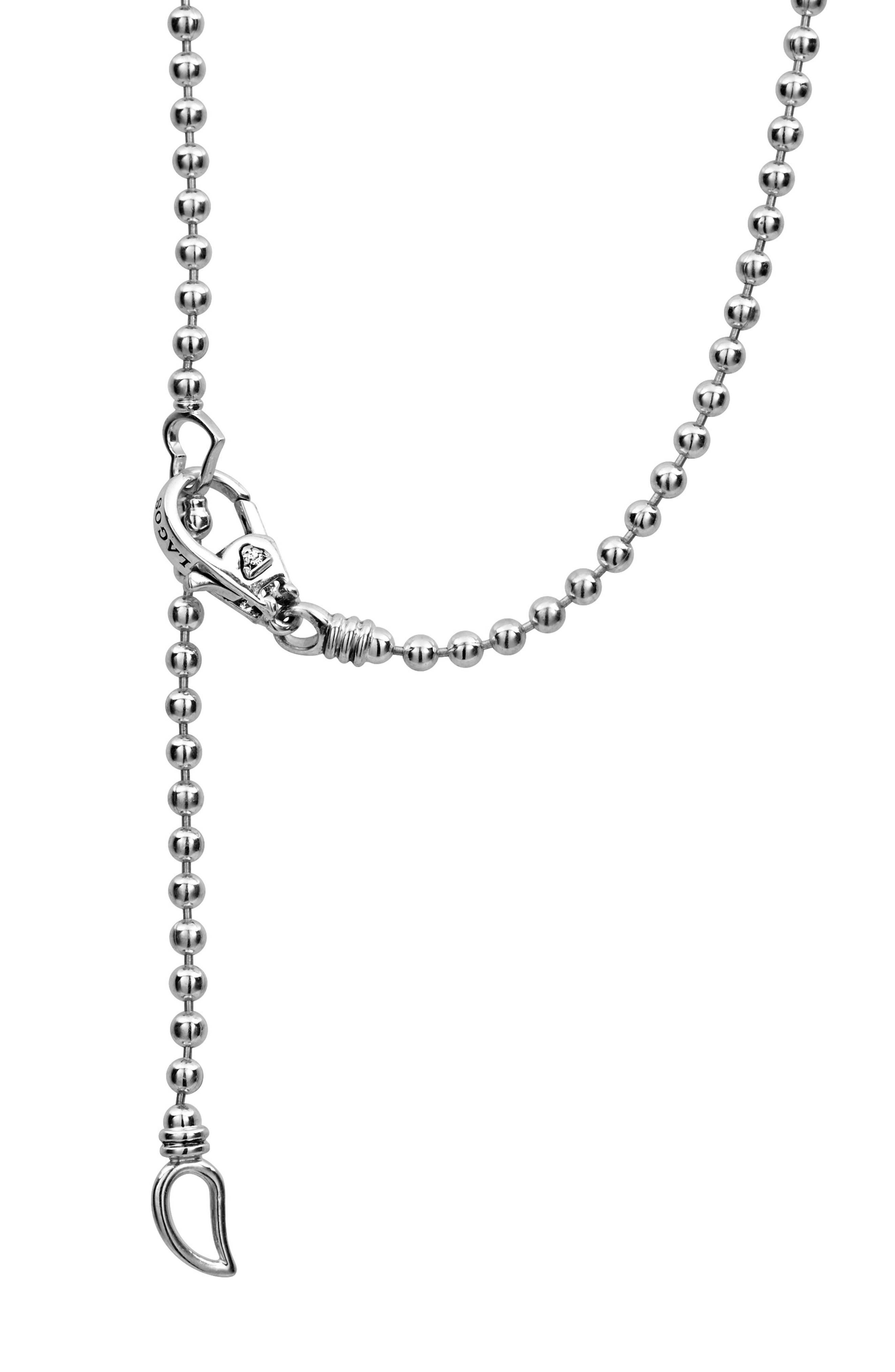Caviar Spark Diamond Pendant Necklace,                             Alternate thumbnail 4, color,                             Silver/ Diamond