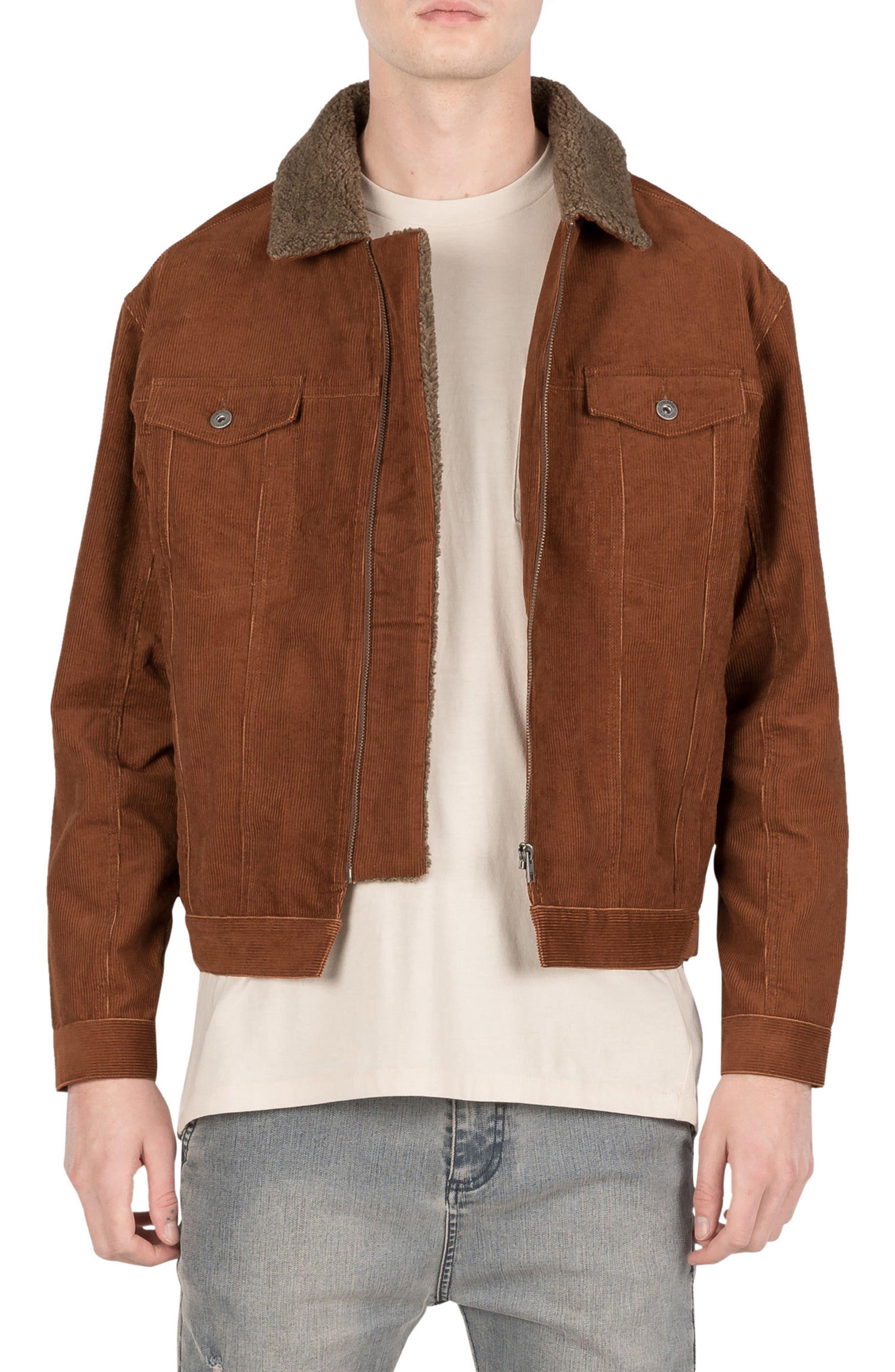 Snitch Corduroy Jacket,                             Main thumbnail 1, color,                             Dark Bronze