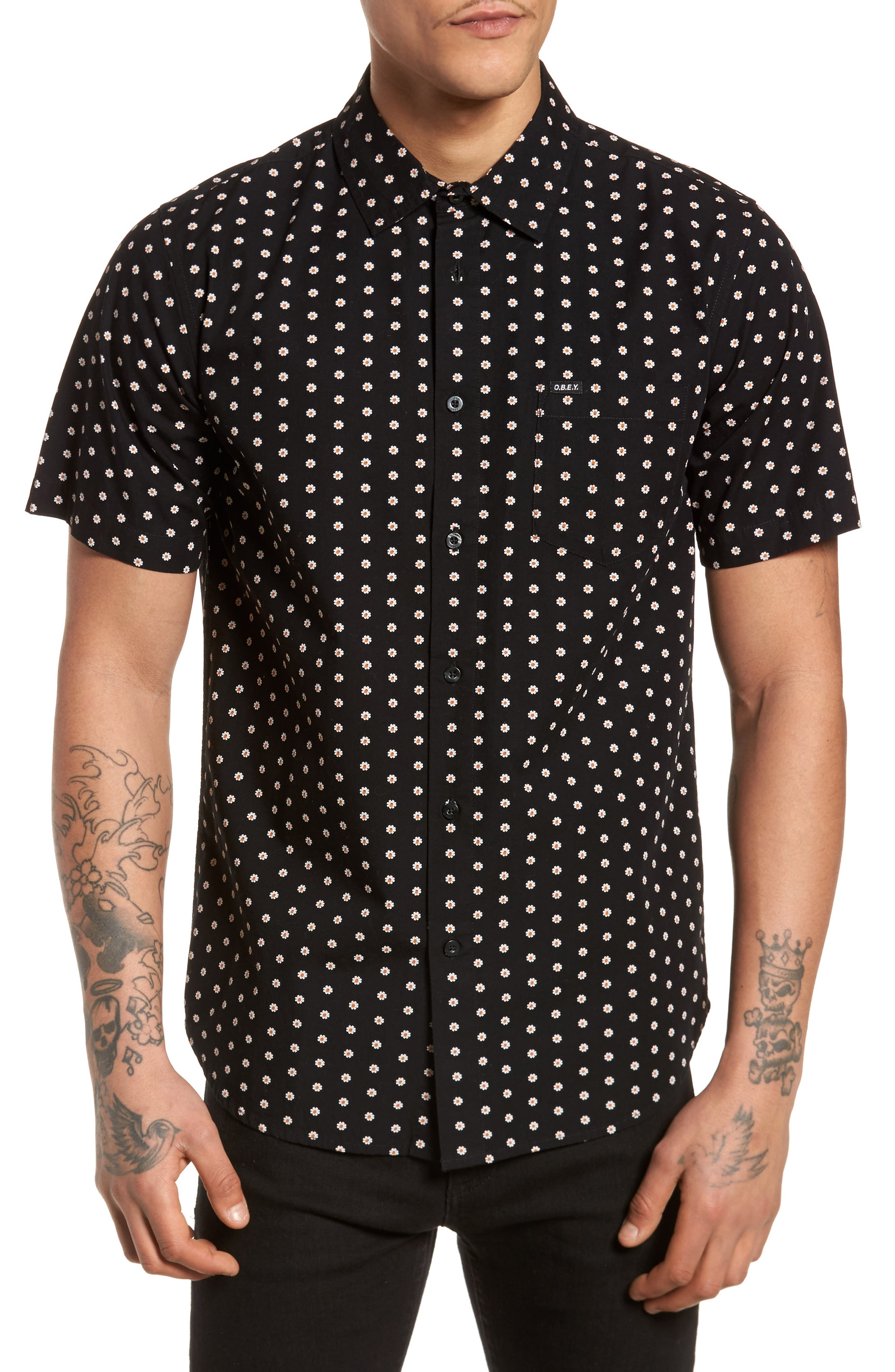 Brighton Short Sleeve Shirt,                             Main thumbnail 1, color,                             Black