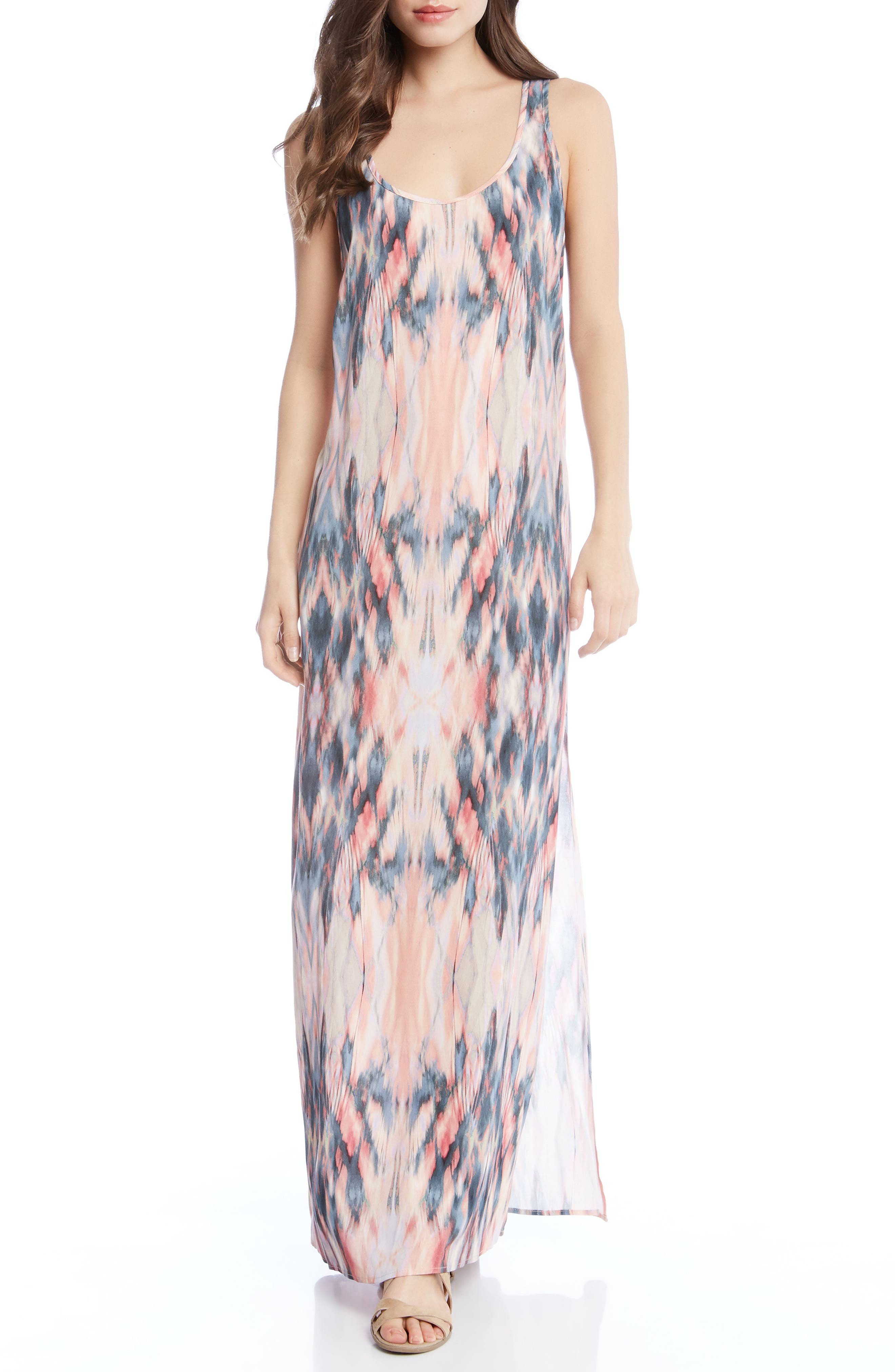 Side Slit Maxi Dress,                         Main,                         color, Print