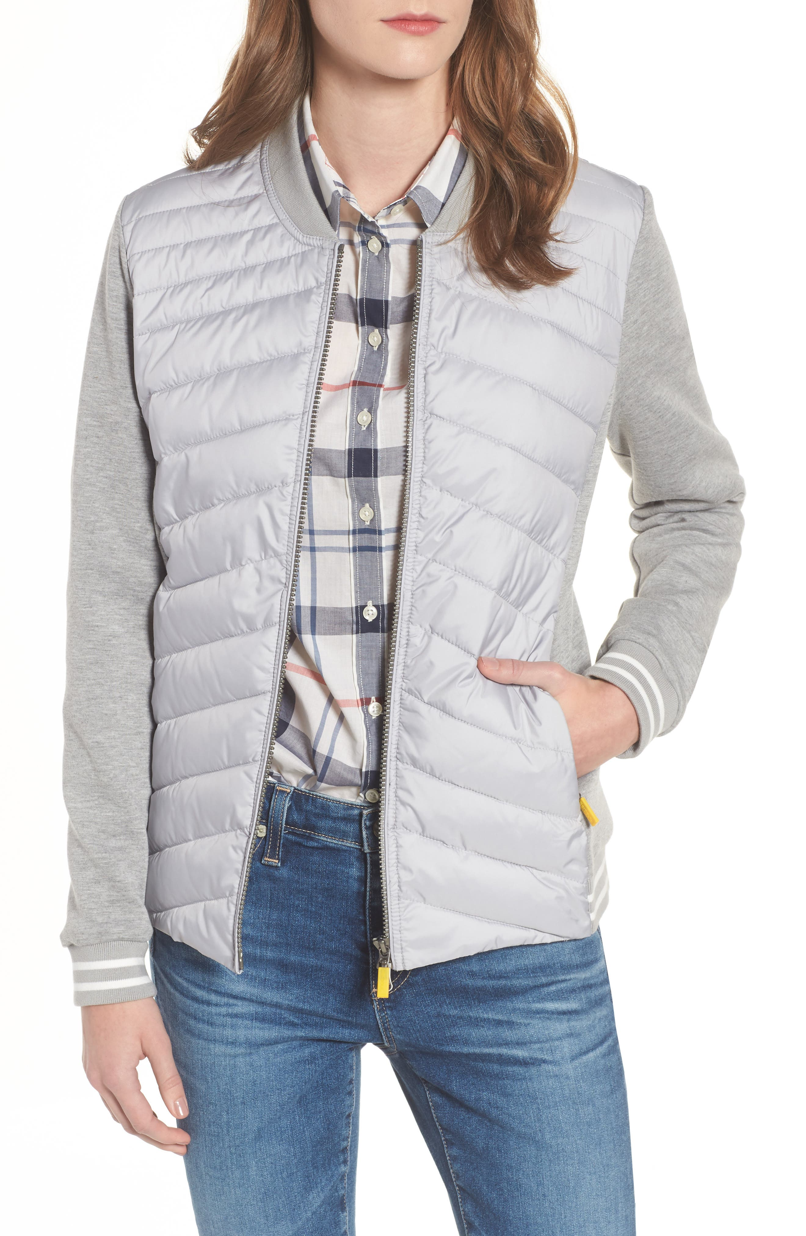 Pembrey Sweatshirt Jacket,                             Main thumbnail 1, color,                             Ice White