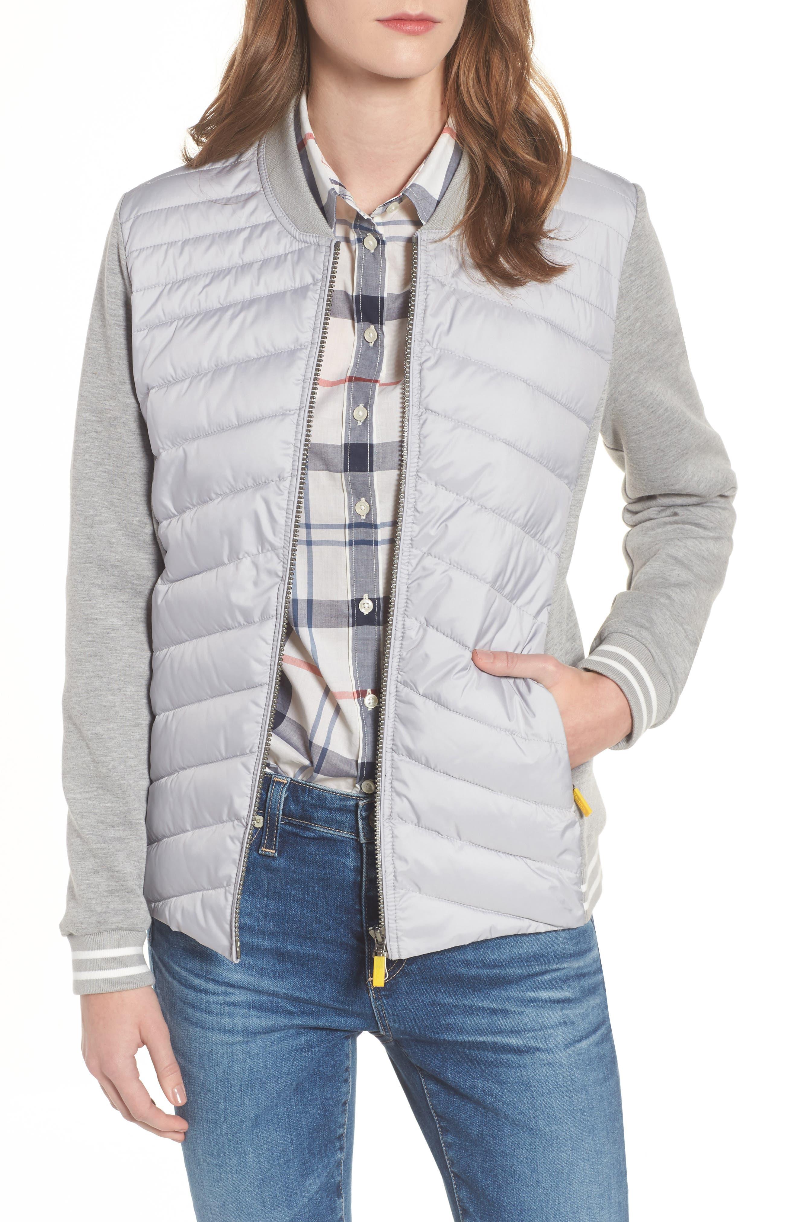 Pembrey Sweatshirt Jacket,                         Main,                         color, Ice White