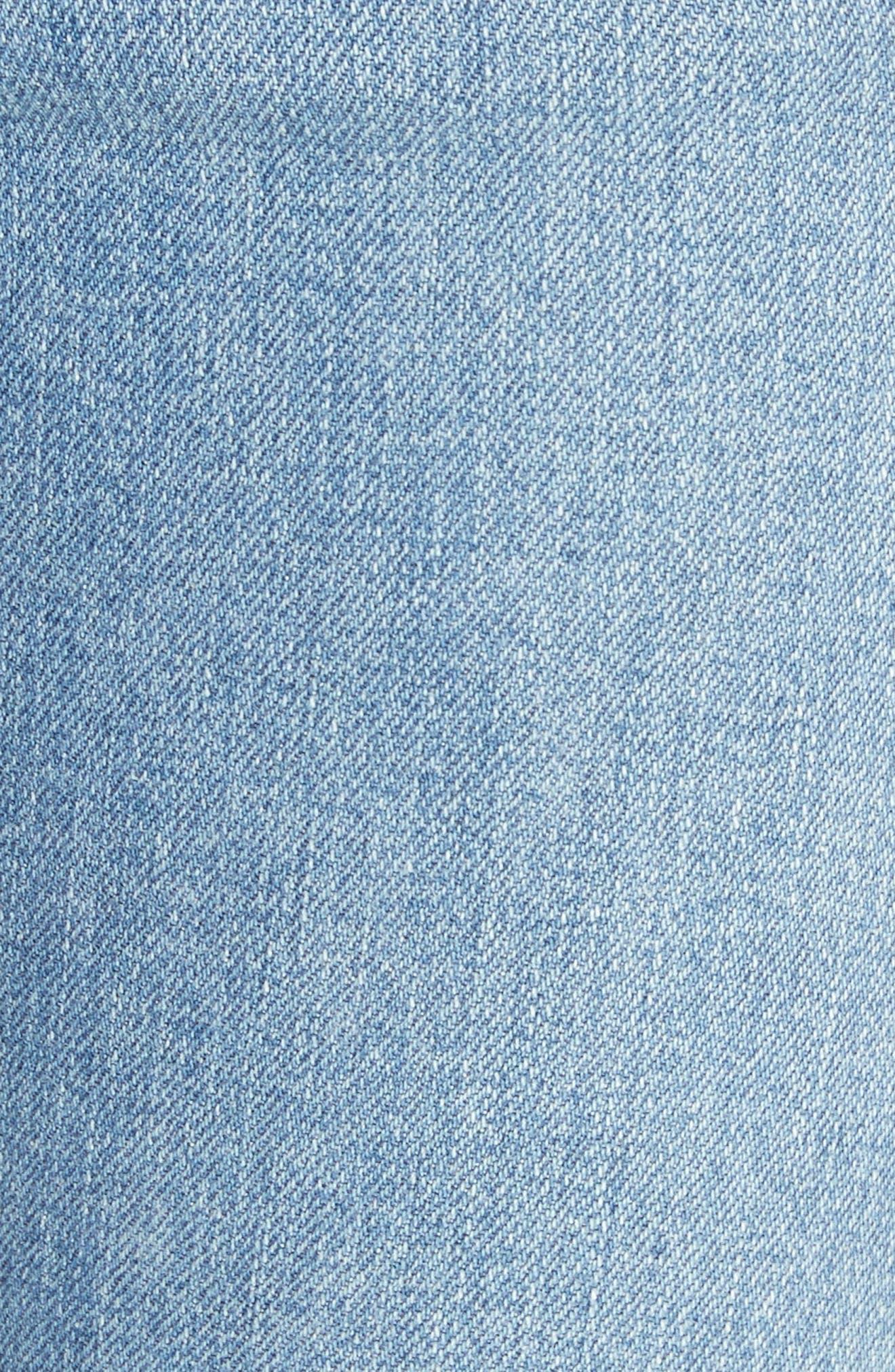 Lowry Split Hem Jeans,                             Alternate thumbnail 6, color,                             Mid Indigo Wash