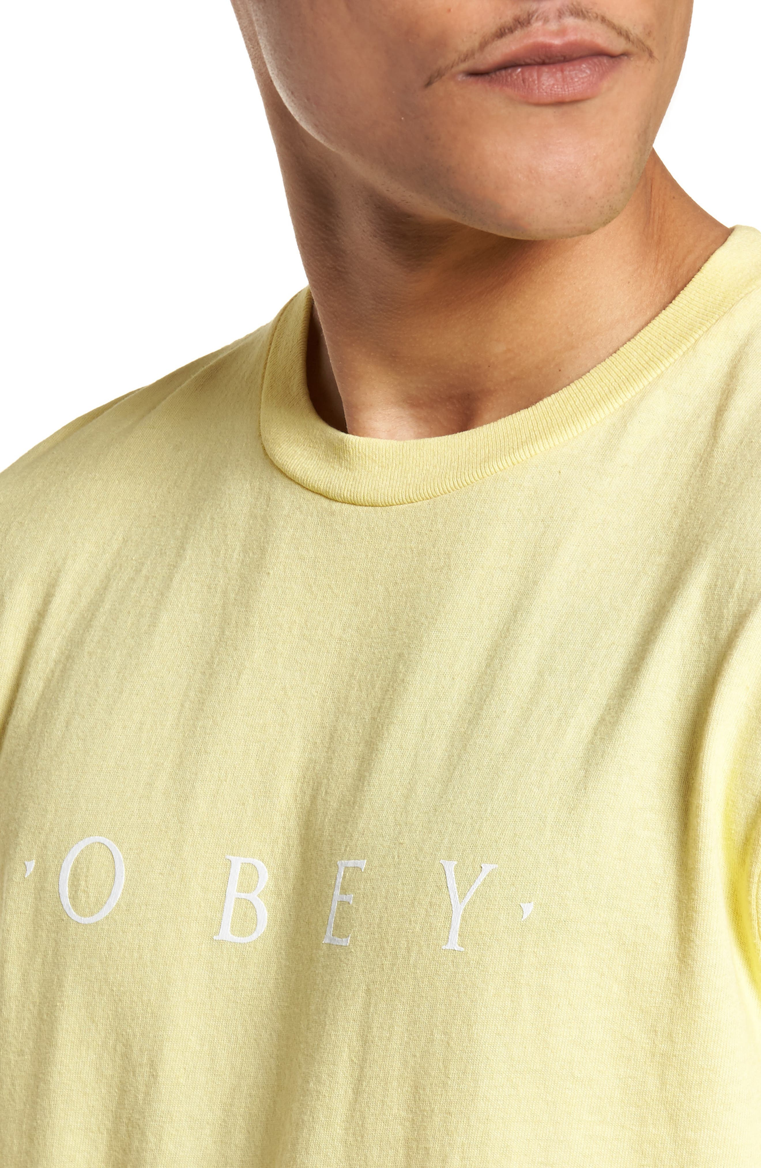 Logo Graphic T-Shirt,                             Alternate thumbnail 3, color,                             Dusty Lemon