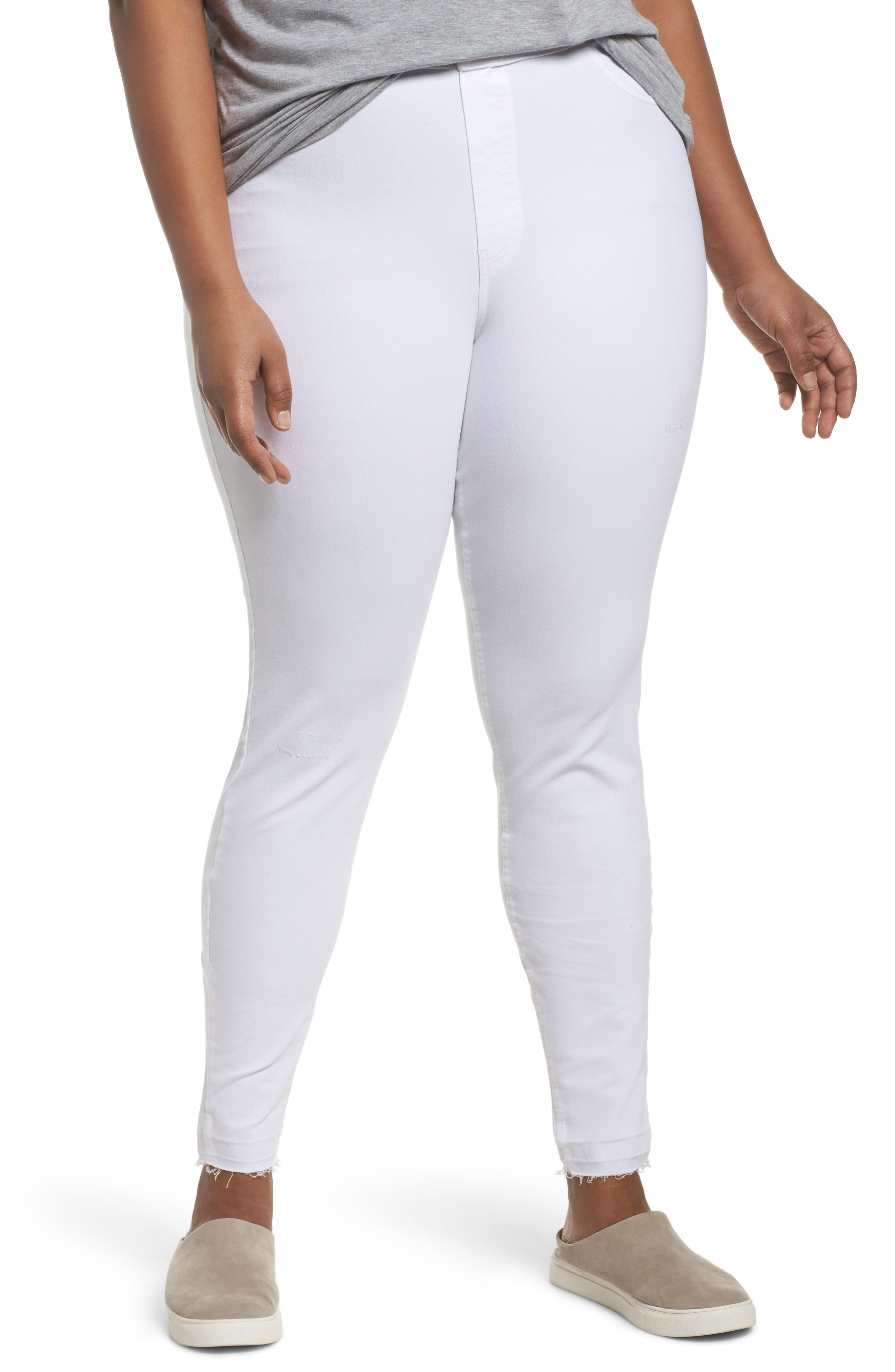 Hue denim leggings almost white