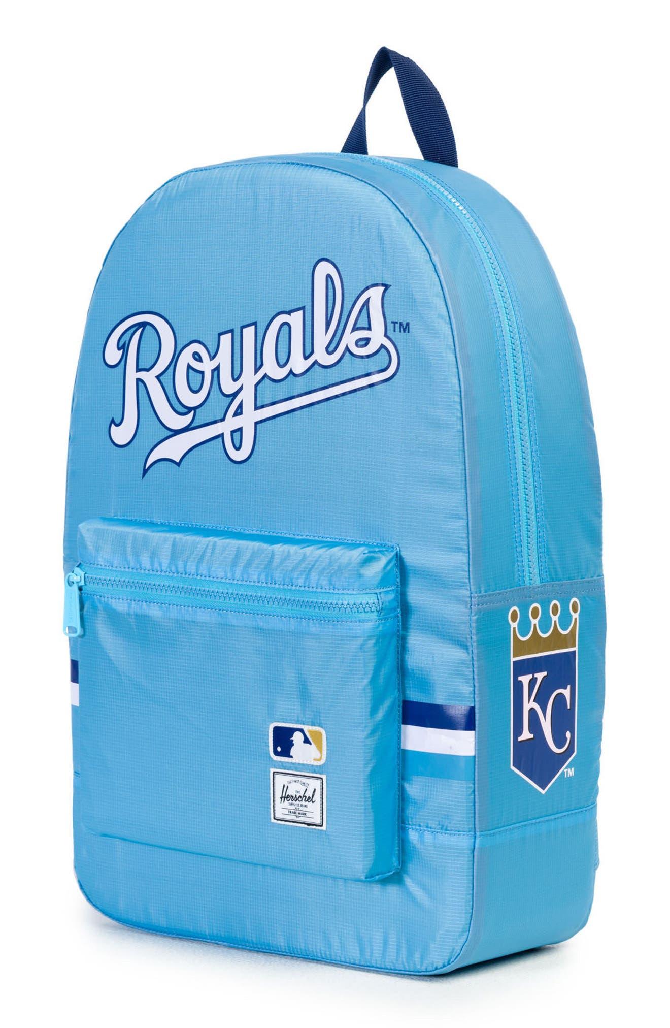 Packable - MLB American League Backpack,                             Alternate thumbnail 3, color,                             Kansas City Royals