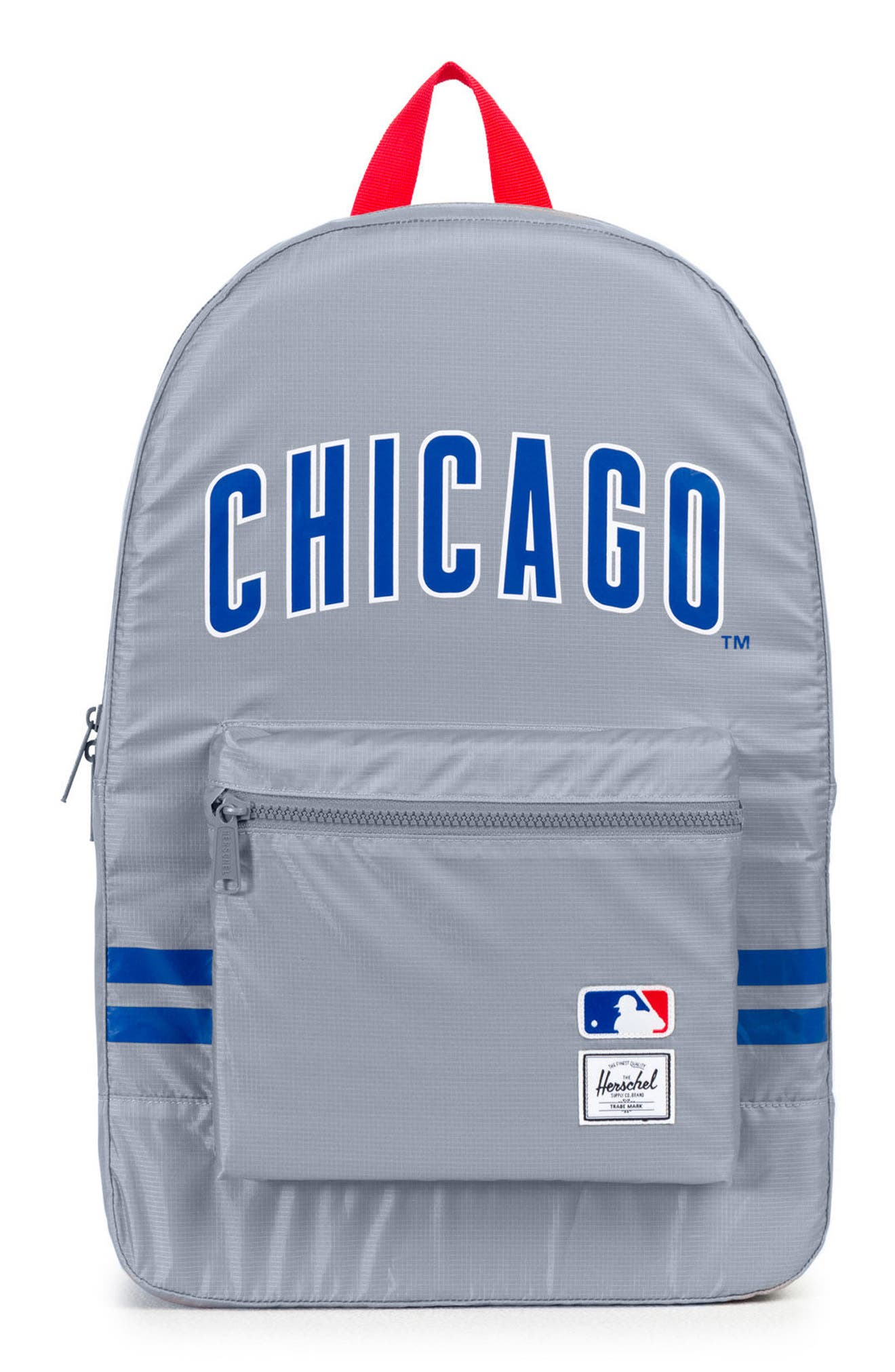 Packable - MLB National League Backpack,                         Main,                         color, Chicago Cubs