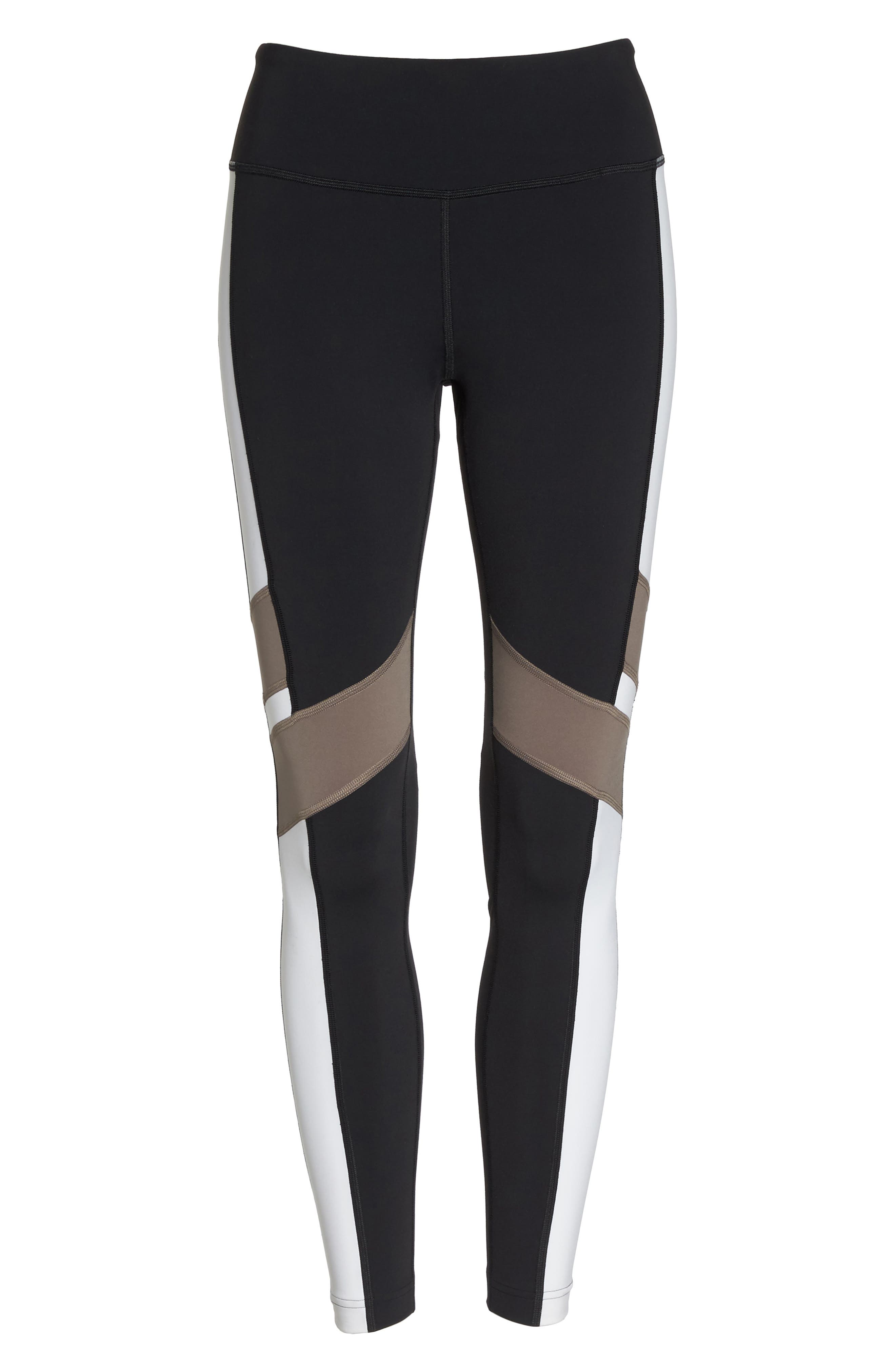 Reebox Lux Tights,                             Alternate thumbnail 7, color,                             Black