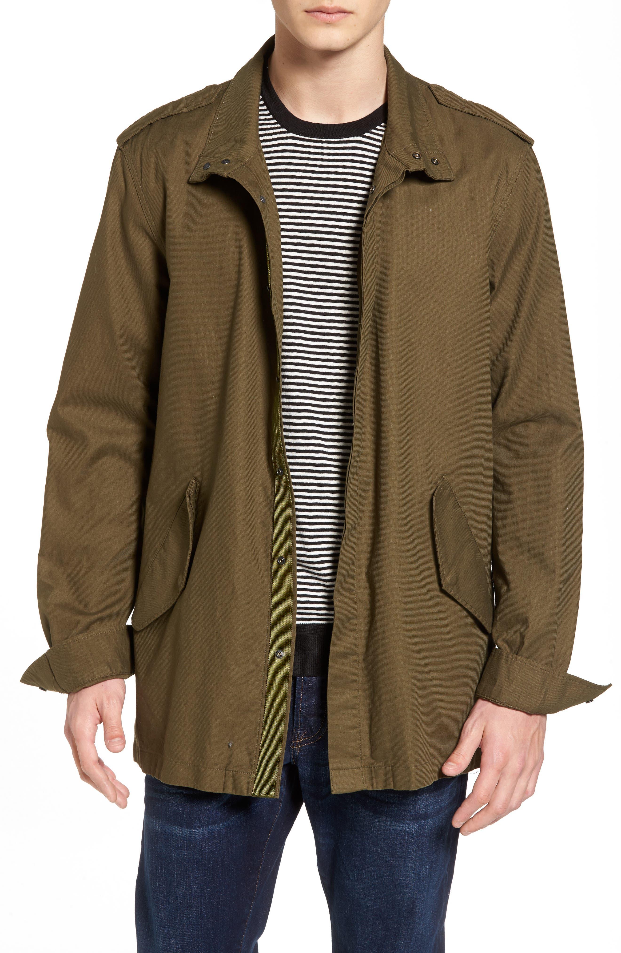 Shirt Jacket Parka,                             Main thumbnail 1, color,                             Army