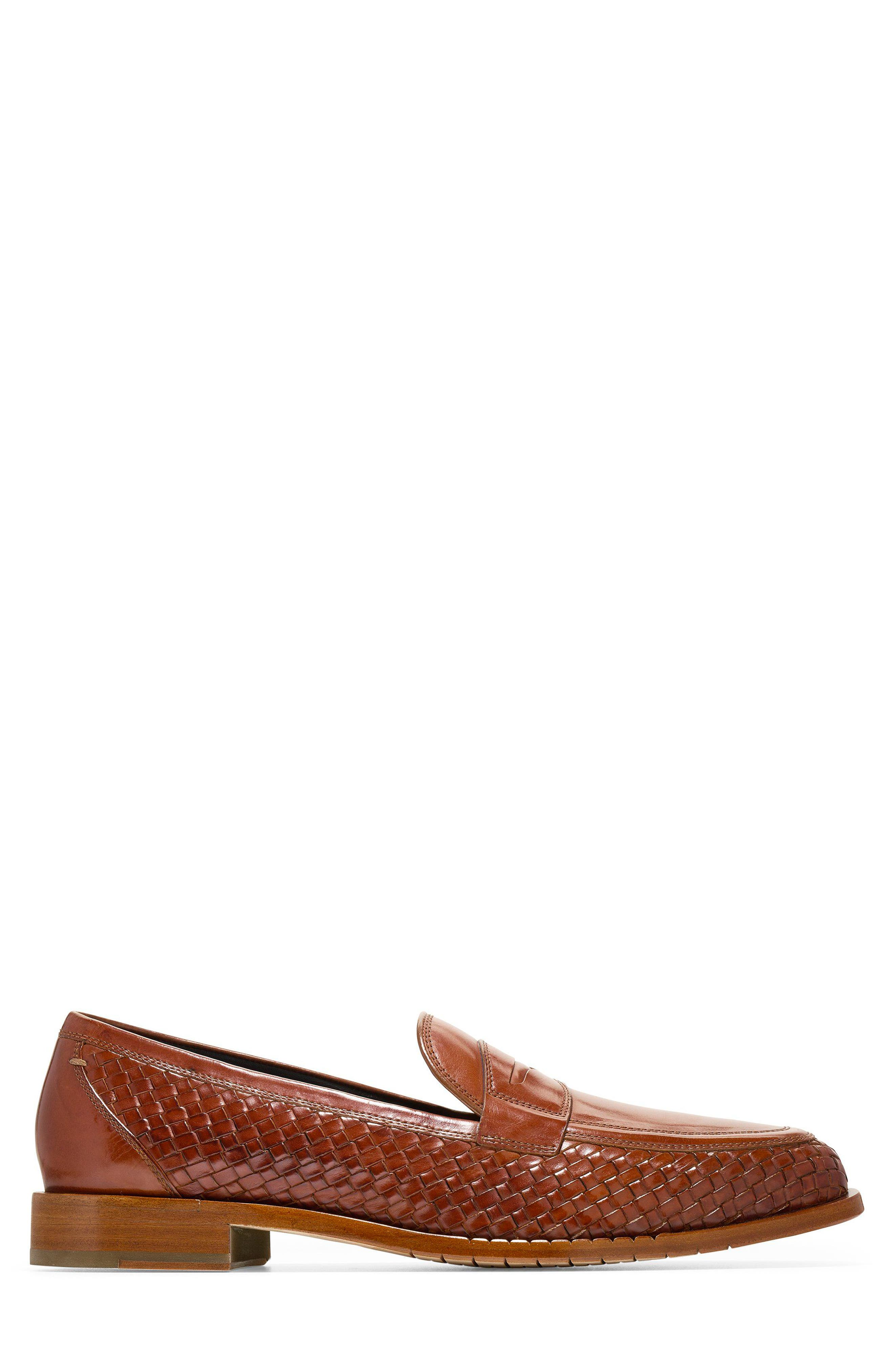 Washington Grand Penny Loafer,                             Alternate thumbnail 3, color,                             British Tan Woven