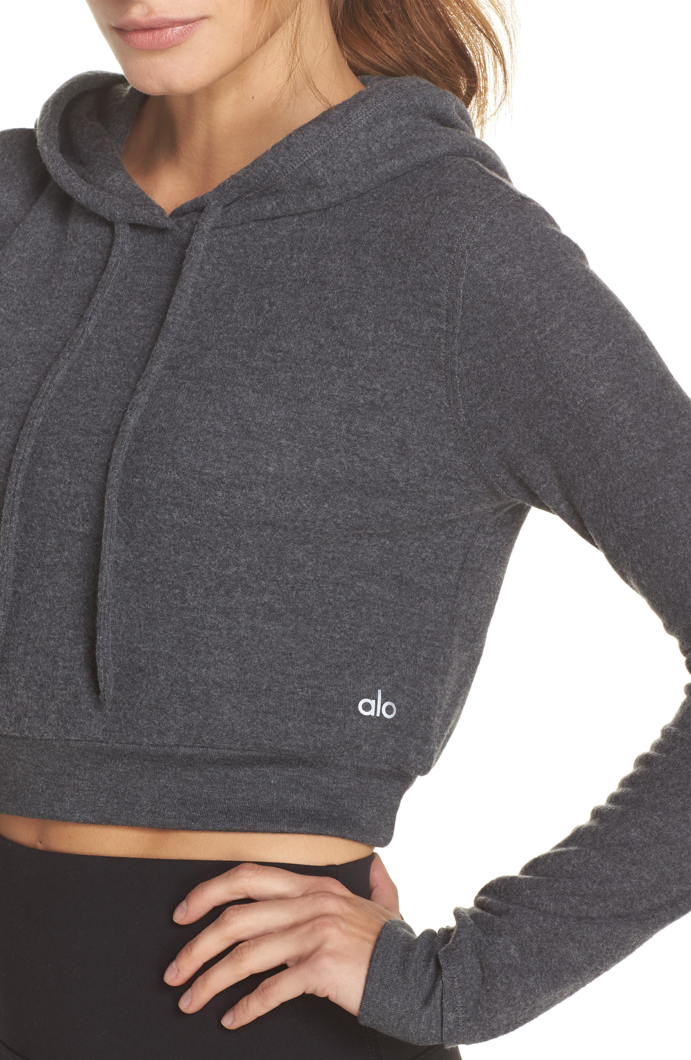 Getaway Hoodie,                             Alternate thumbnail 4, color,                             Anthracite Heather