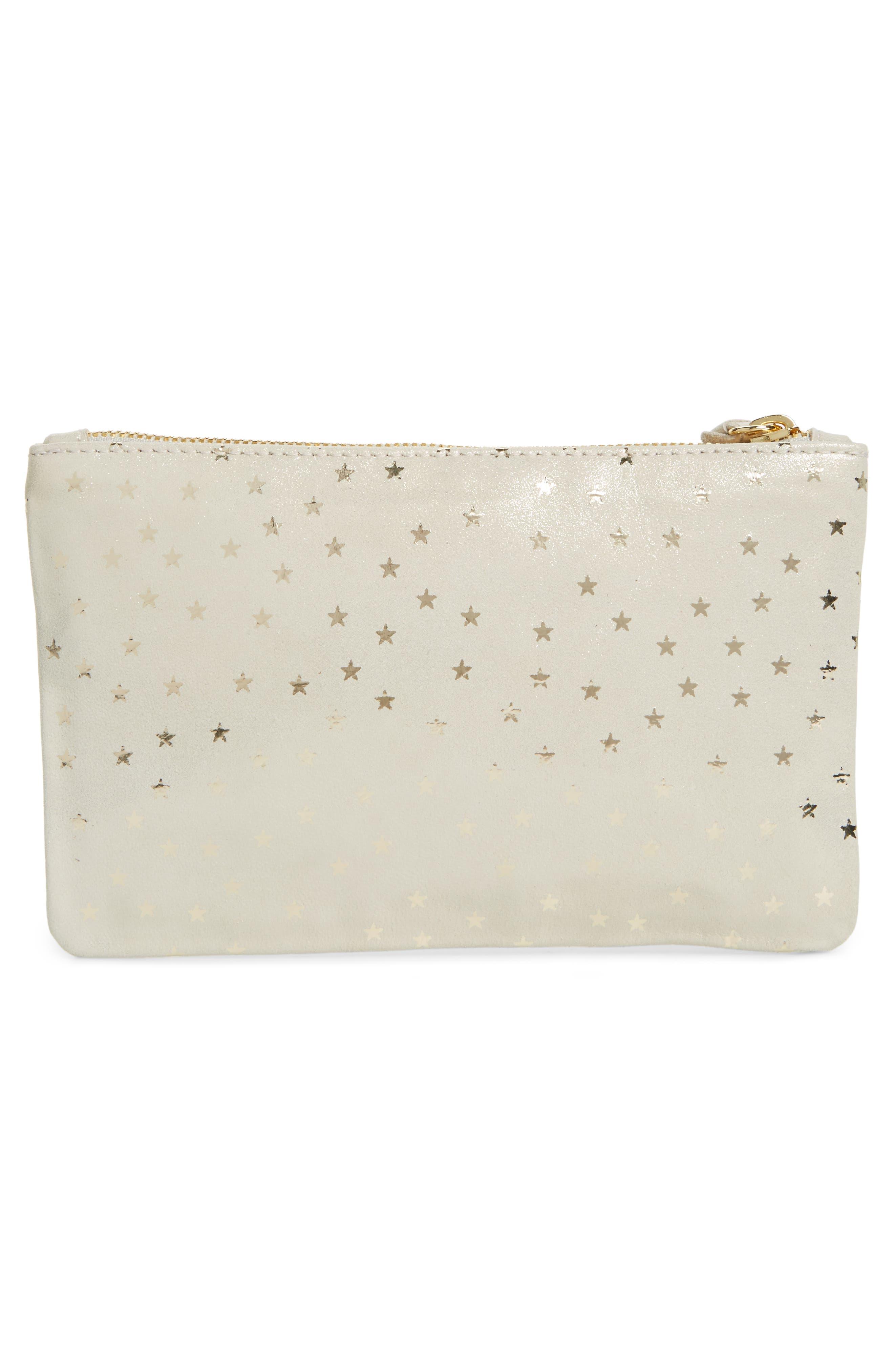 Alternate Image 3  - Clare V. Supreme Star Shimmer Suede Wallet Clutch