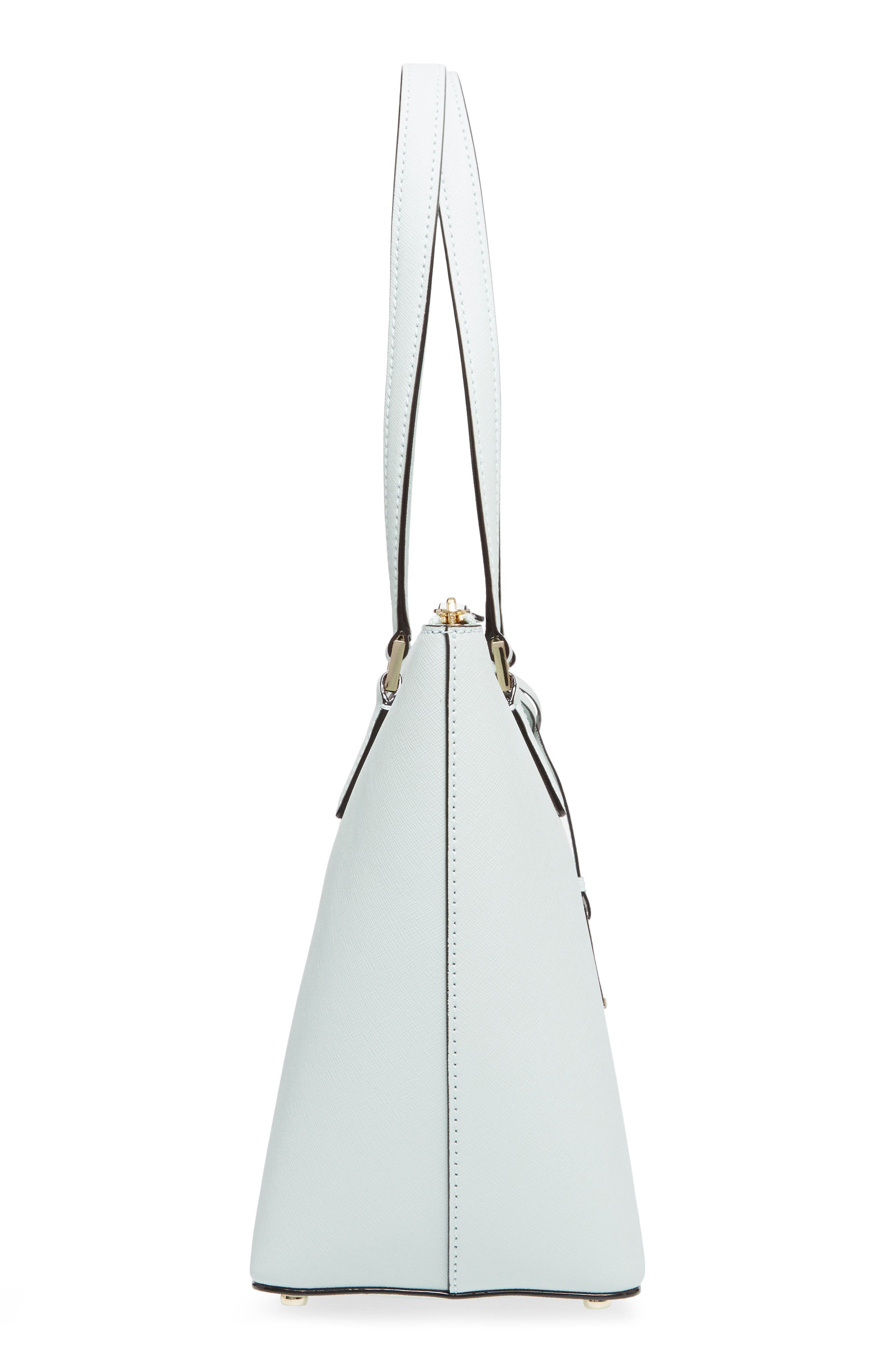 cameron street - small lucie leather tote,                             Alternate thumbnail 5, color,                             Misty Mint