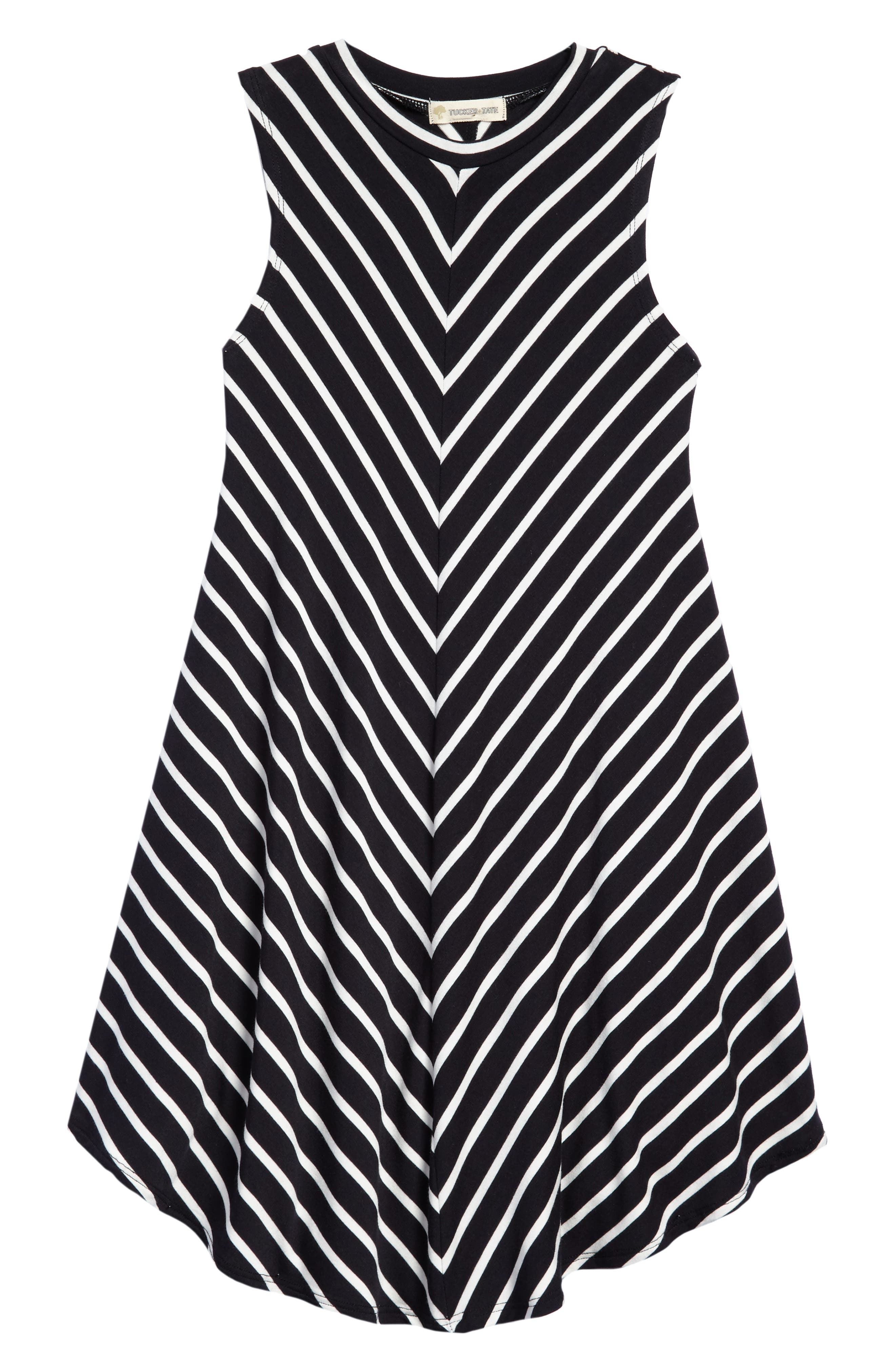 Tucker + Tate Print Sleeveless Knit Dress (Big Girls)