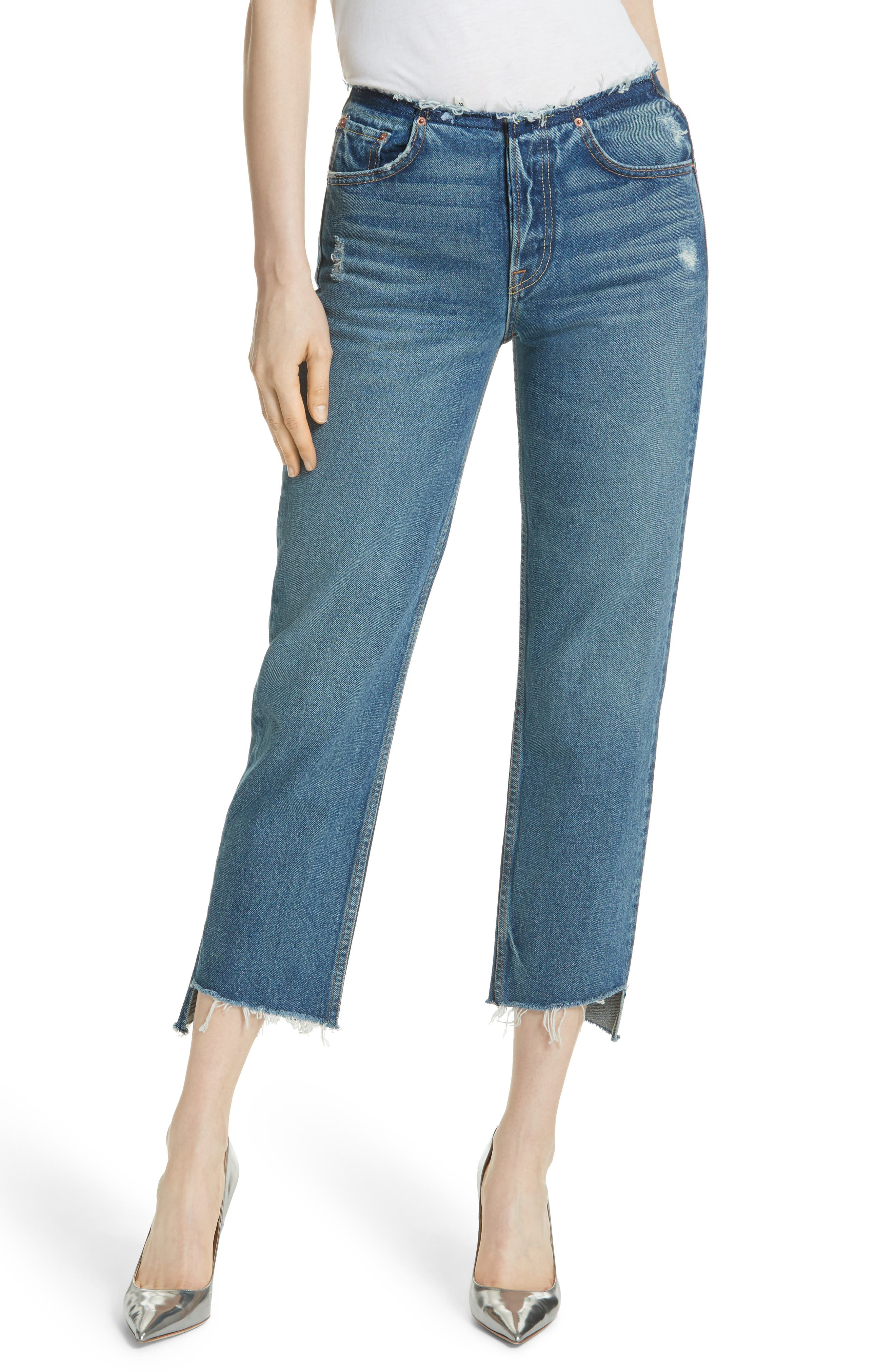Shannan Step Hem Crop Jeans,                         Main,                         color, Show Down G611