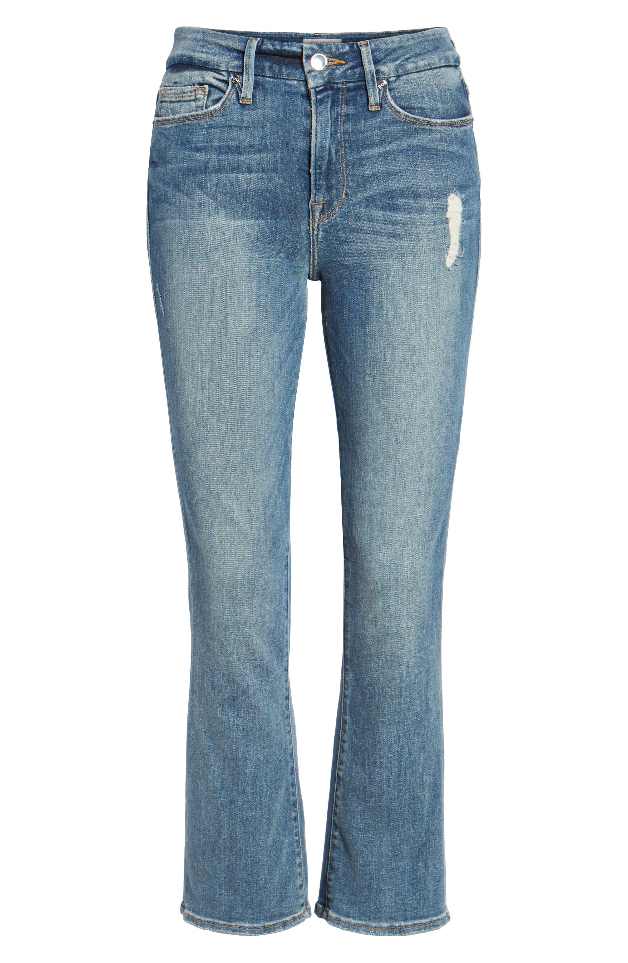 Good Cuts High Rise Boyfriend Jeans,                             Alternate thumbnail 7, color,                             Blue 012