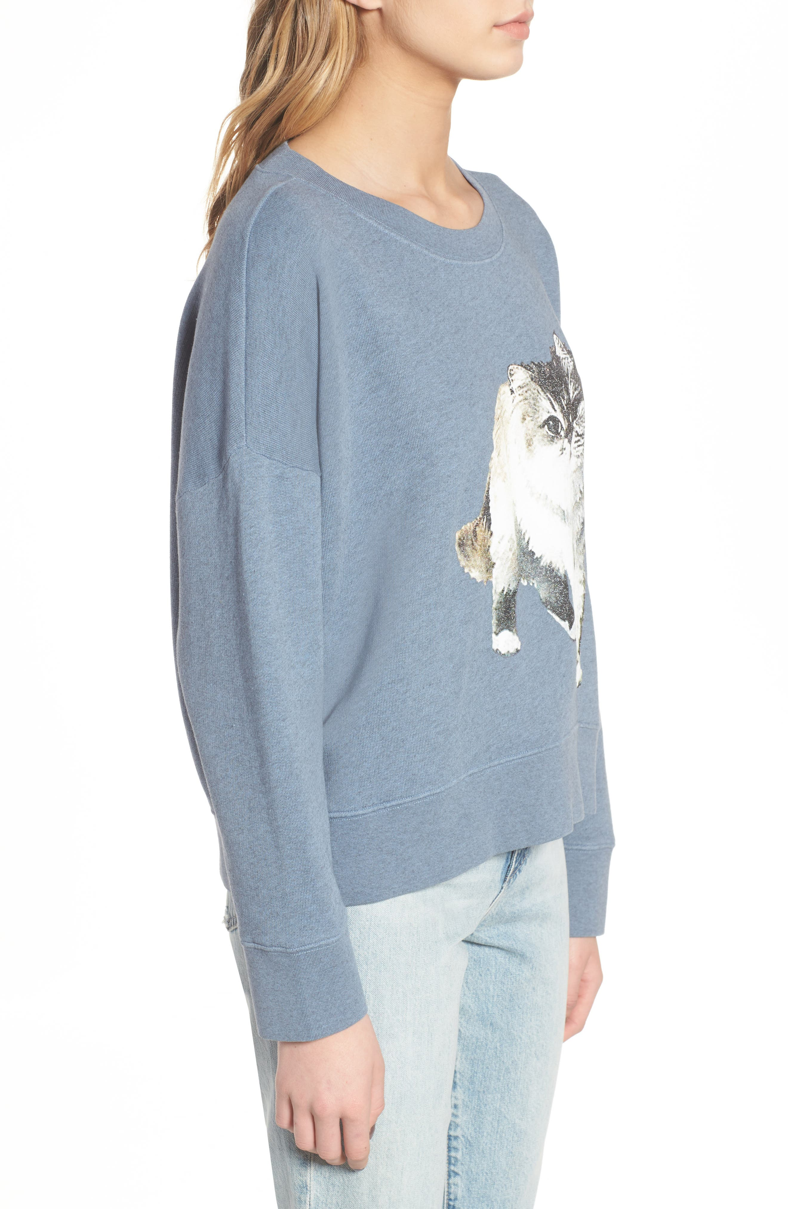 Kyoto Sweatshirt,                             Alternate thumbnail 3, color,                             Blue