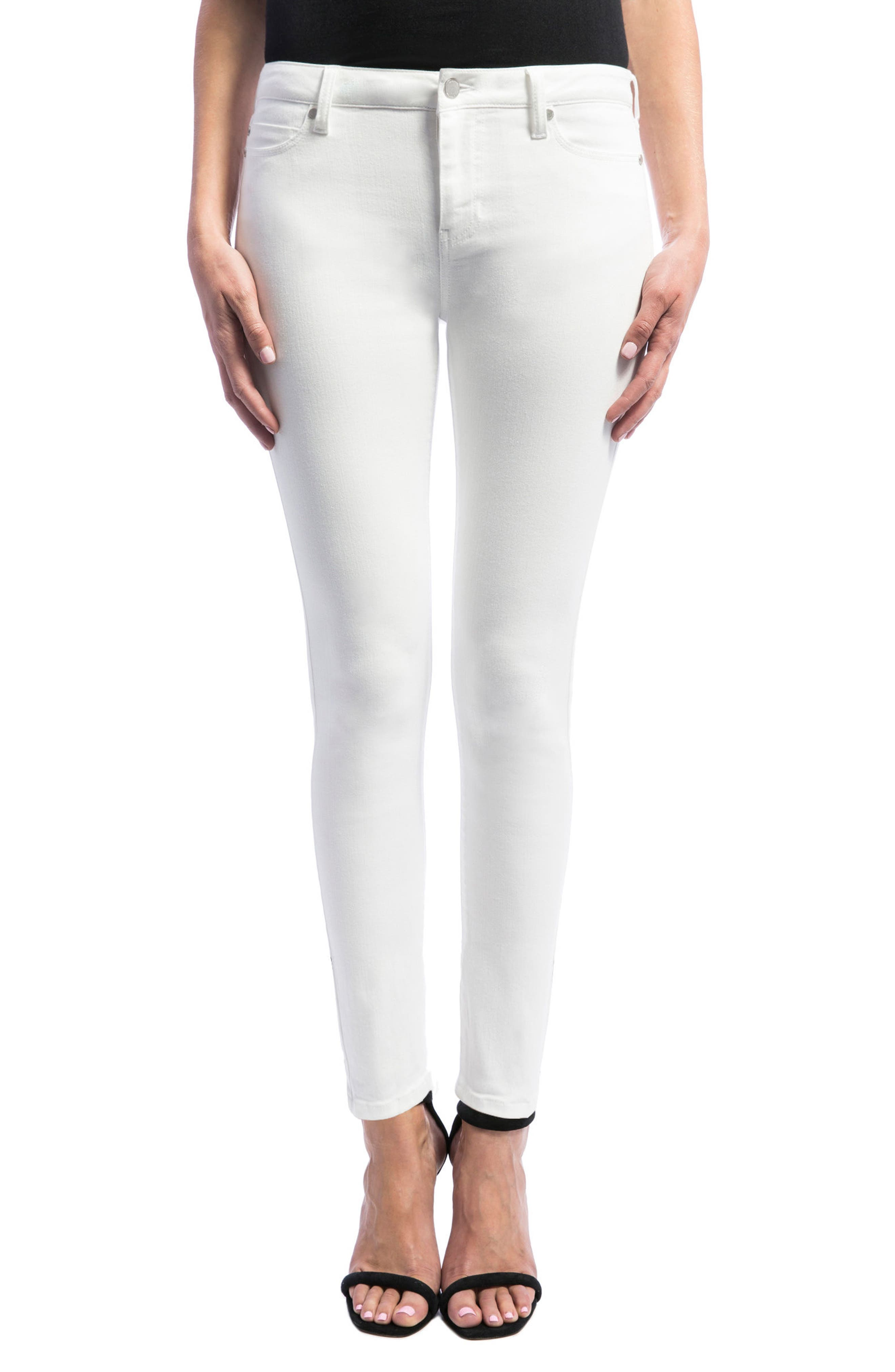 Abby Skinny Jeans,                         Main,                         color, Bright White