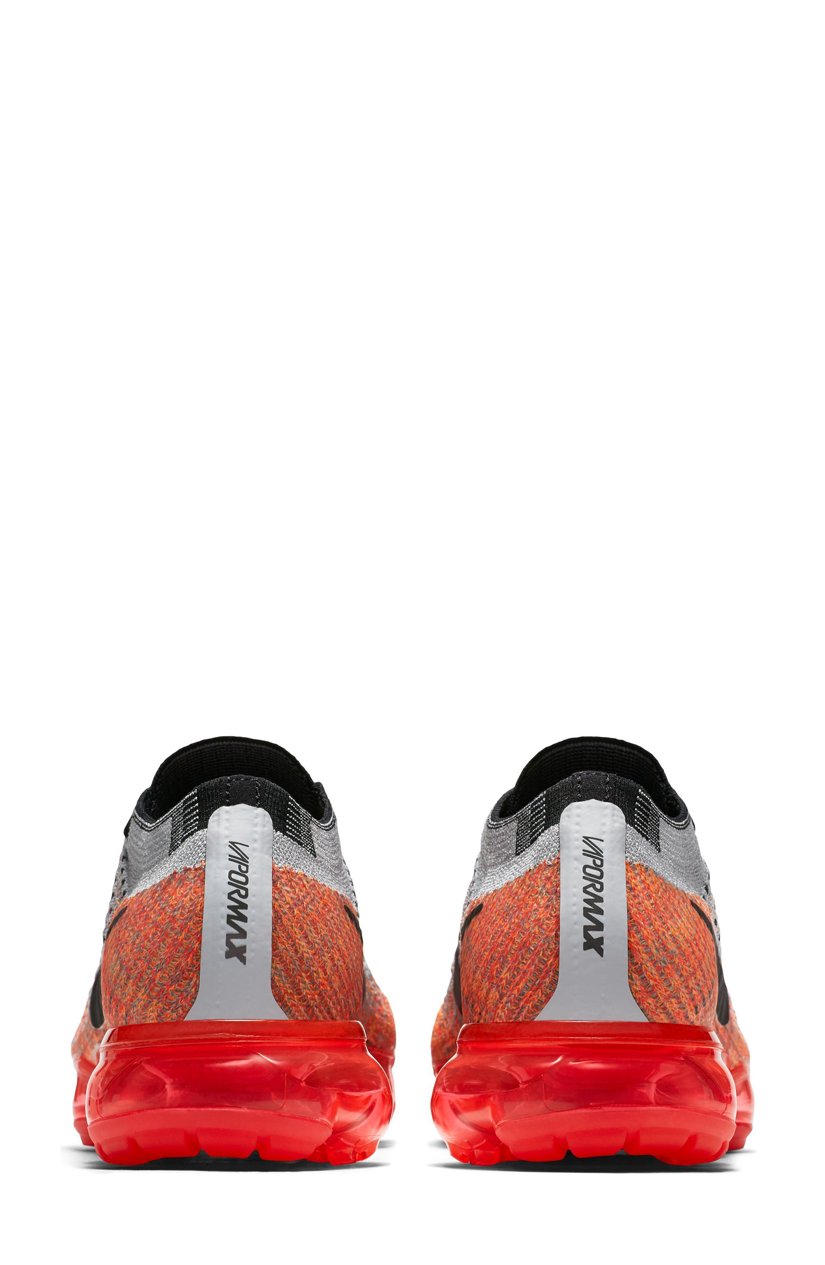 Air VaporMax Flyknit Running Shoe,                             Alternate thumbnail 5, color,                             Wolf Grey/ Black