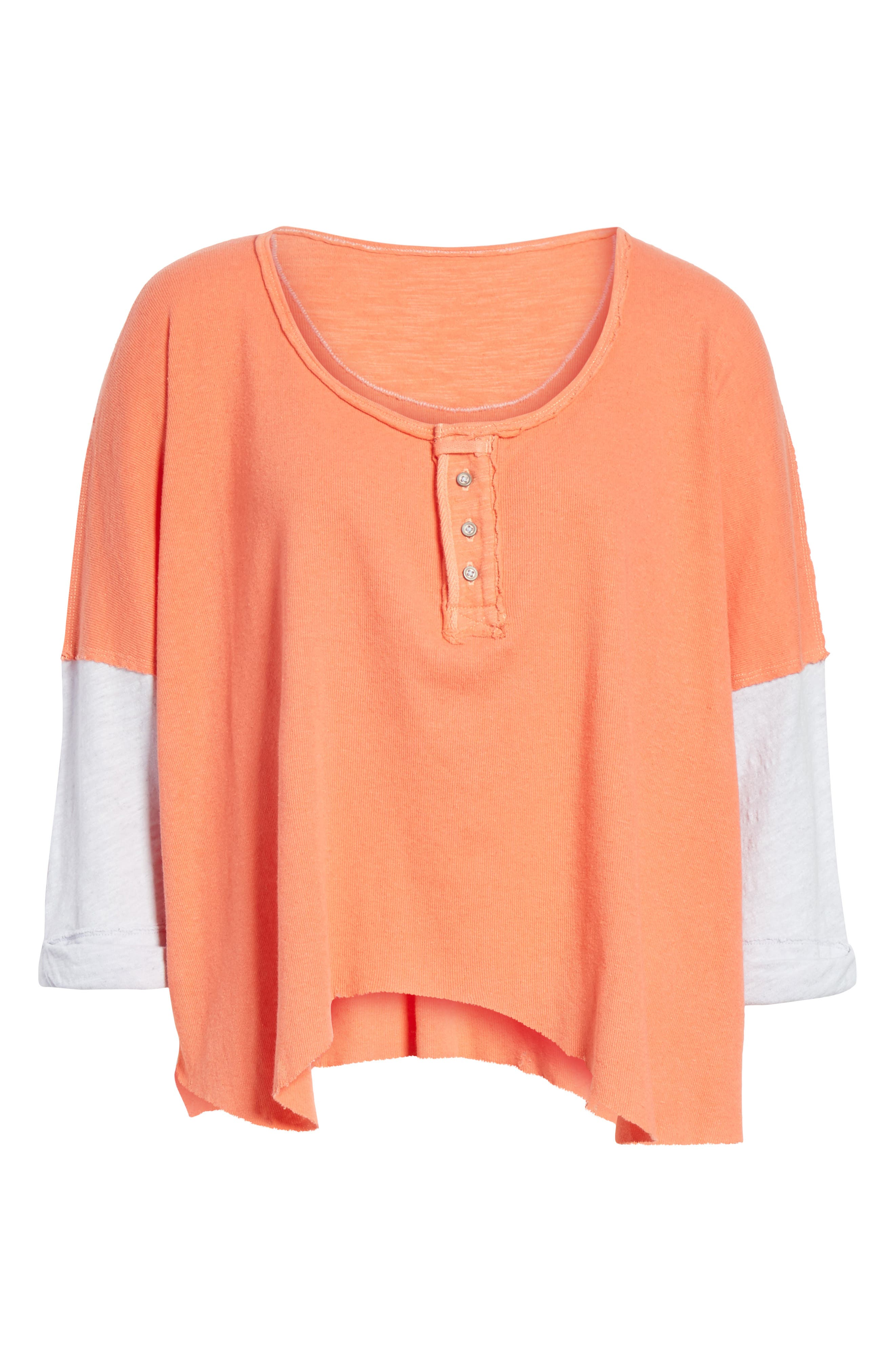 We the Free Star Henley Top,                             Alternate thumbnail 6, color,                             Coral