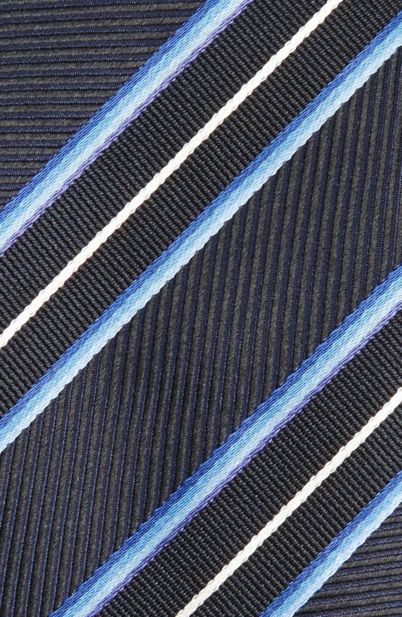 Alternate Image 2  - BOSS Stripe Silk Skinny Tie