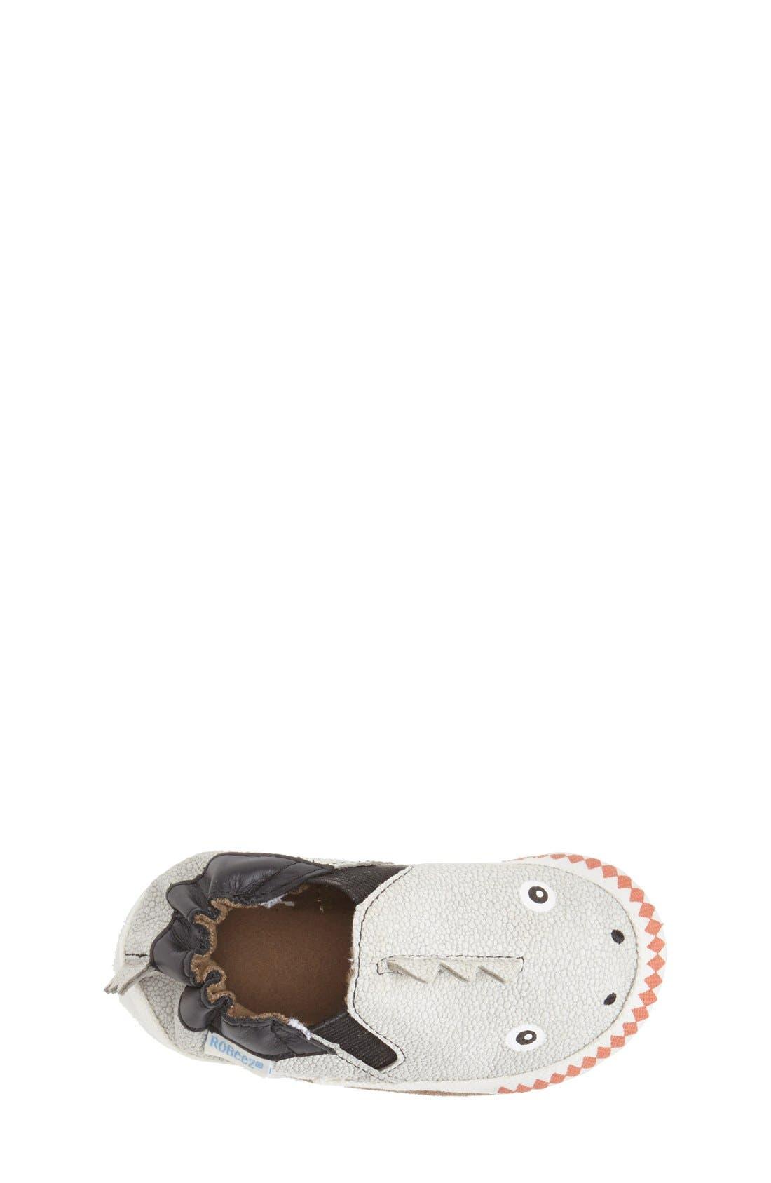 Alternate Image 3  - Robeez® 'Dino Dan' Crib Shoe (Baby & Walker)