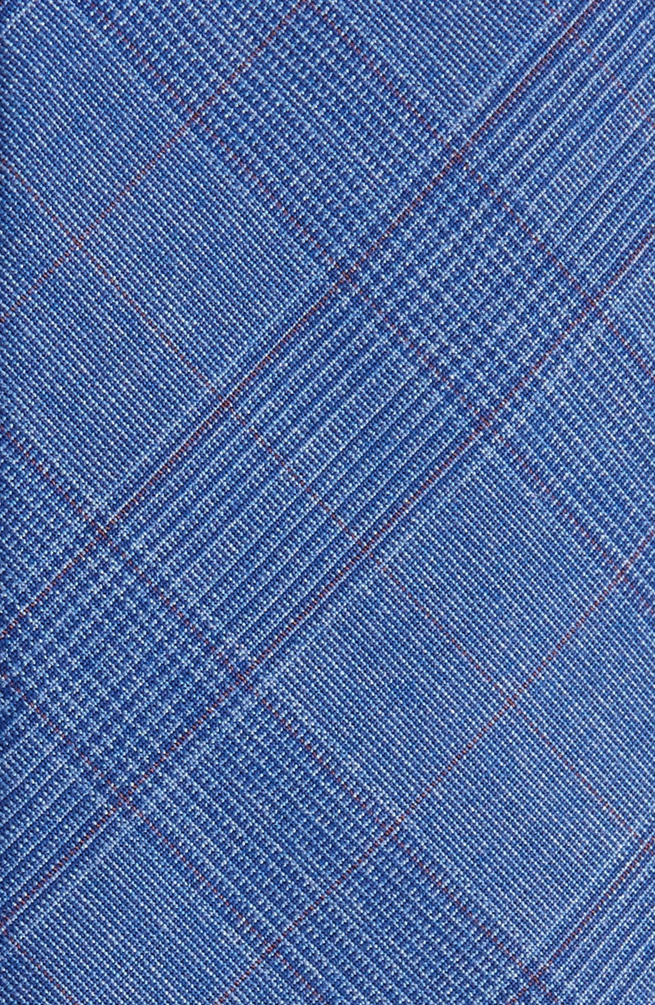 Wheaton Plaid Skinny Tie,                             Alternate thumbnail 2, color,                             Navy