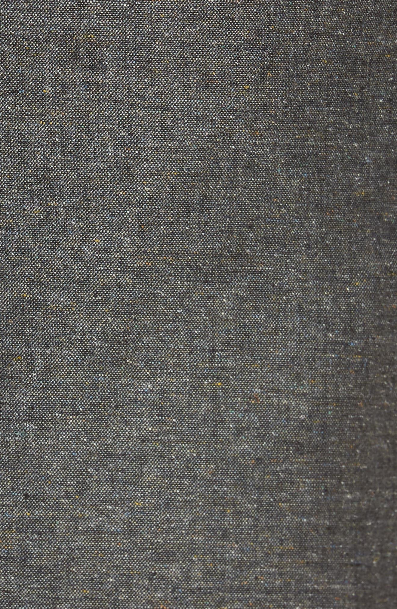 Konan Trim Fit Silk & Linen Blazer,                             Alternate thumbnail 5, color,                             Grey
