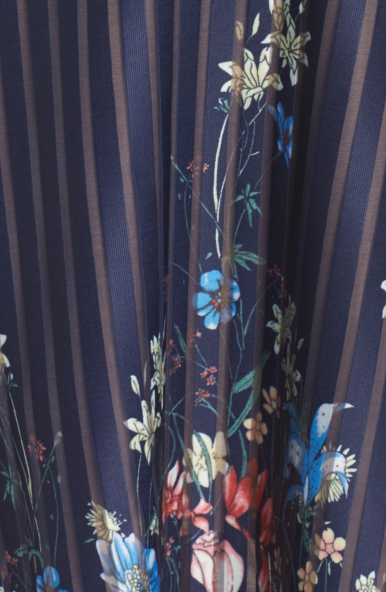 Meadow Dress,                             Alternate thumbnail 5, color,                             Navy Meadow Multi