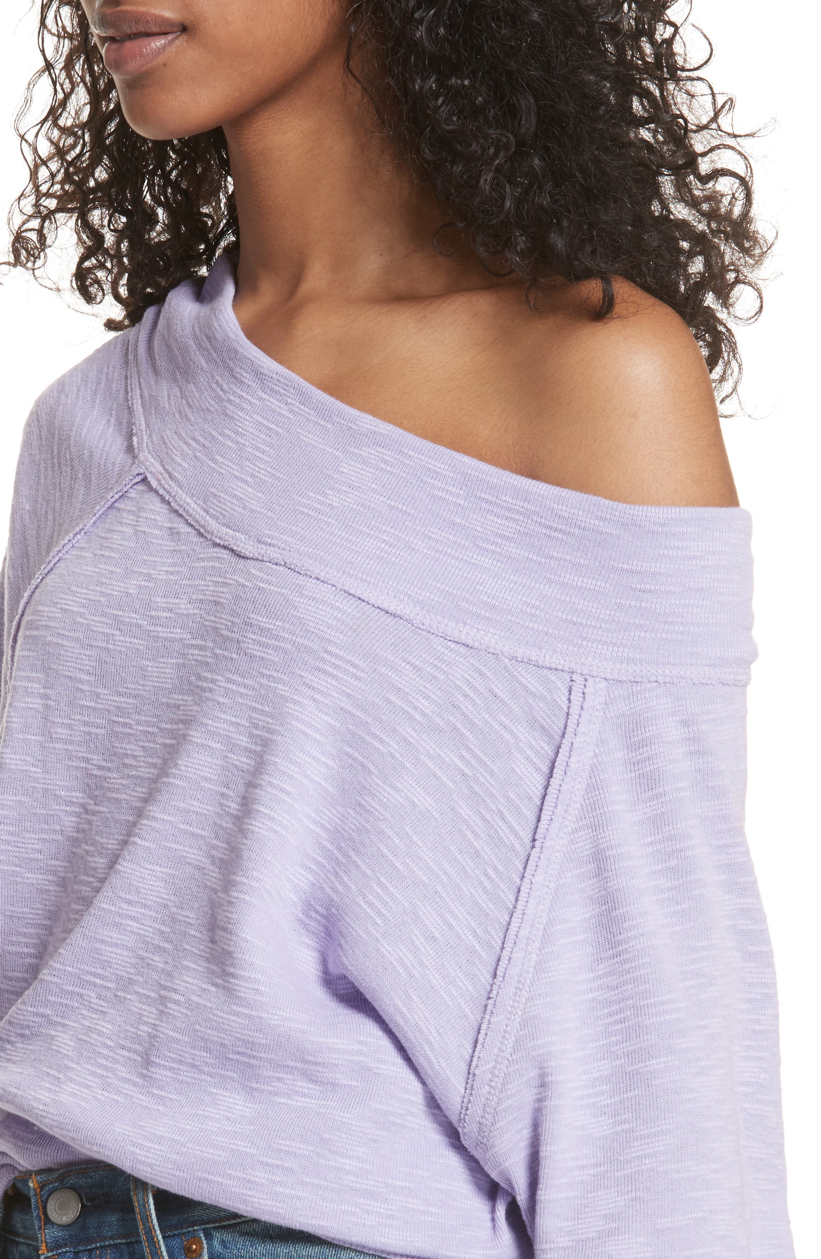 Palisades Off the Shoulder Top,                             Alternate thumbnail 4, color,                             Lilac