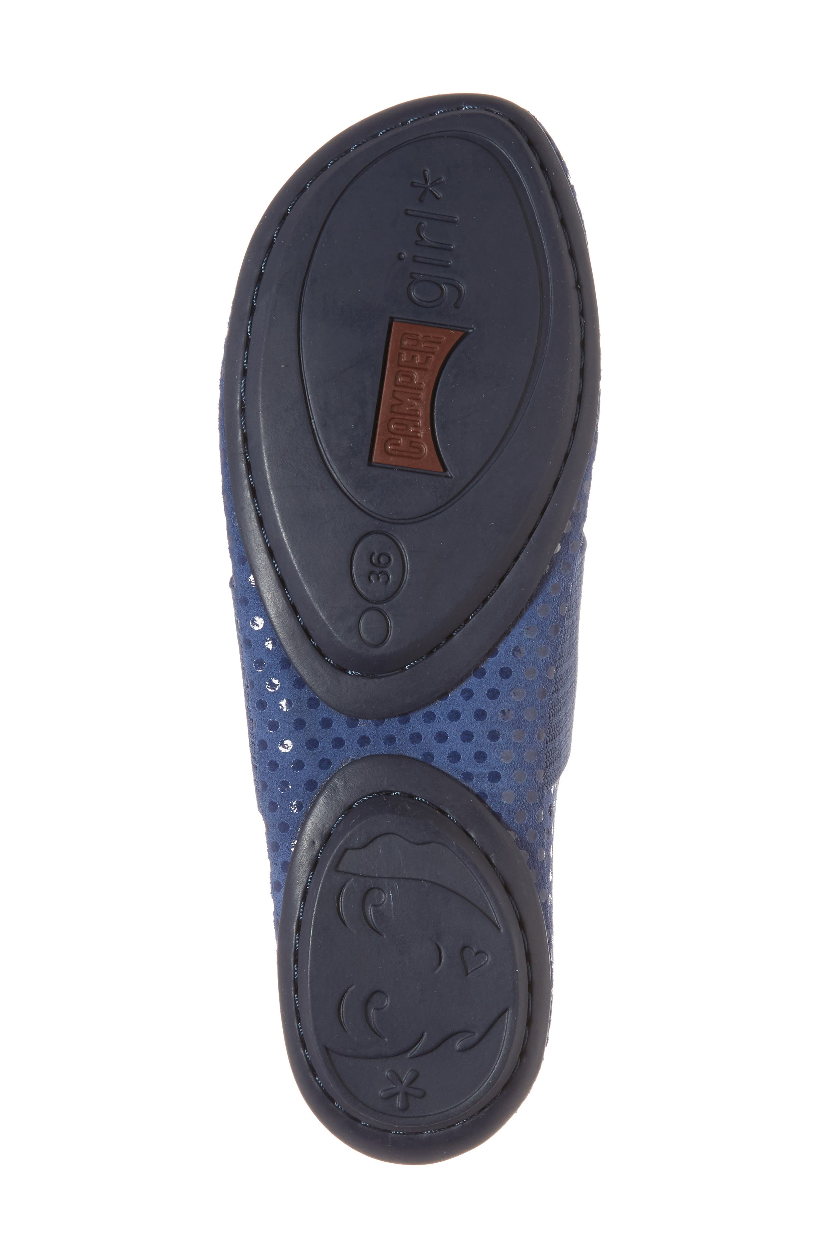 Right Nina Ballerina Flat,                             Alternate thumbnail 6, color,                             Medium Blue Nubuck