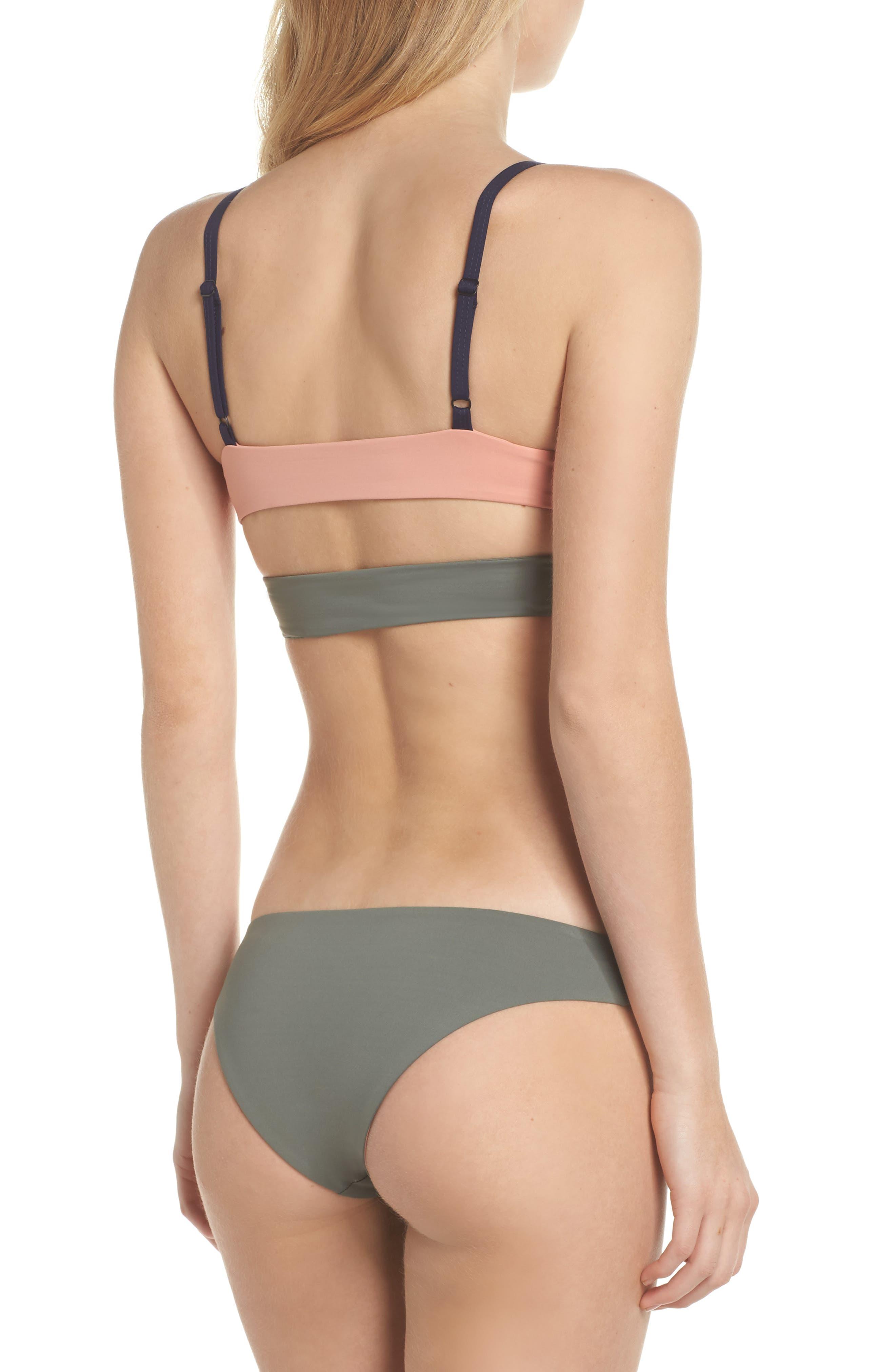 Jaclyn Hipster Bikini Bottoms,                             Alternate thumbnail 6, color,                             Desert Clay/ Cove Grey