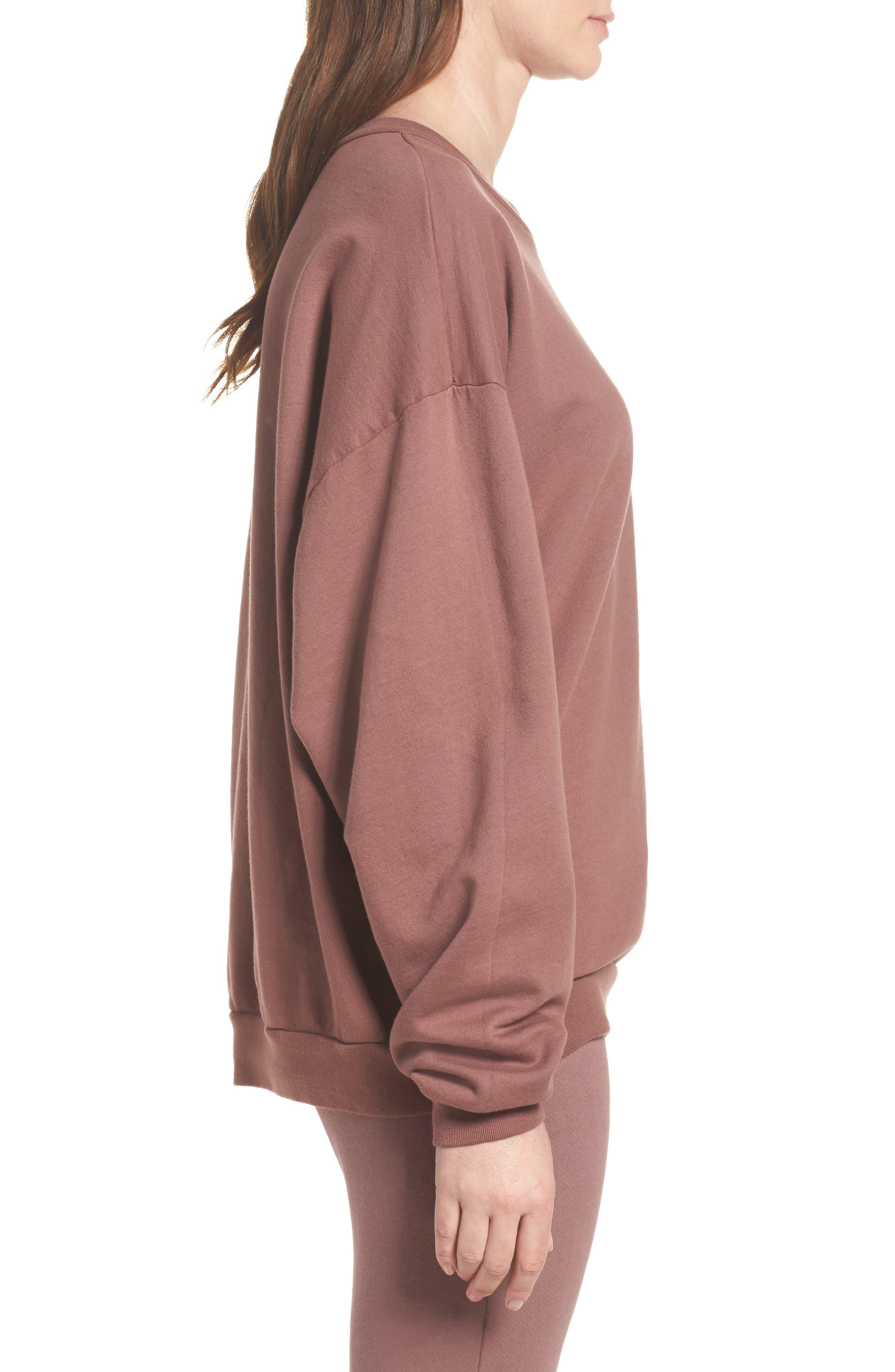 Alternate Image 3  - Michael Lauren Ellstan Oversize Boyfriend Sweatshirt