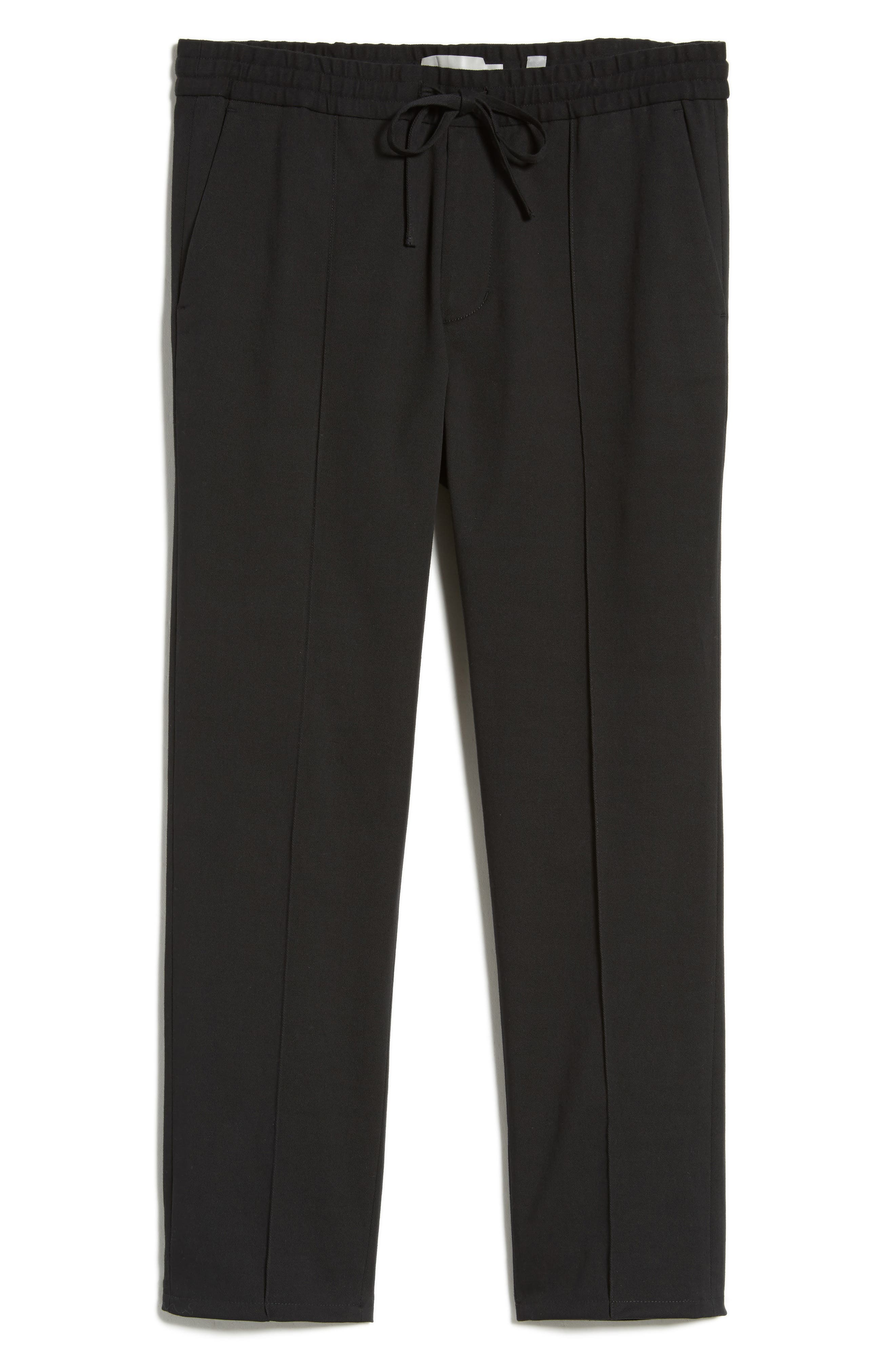 Regular Fit Track Pants,                             Alternate thumbnail 6, color,                             Black