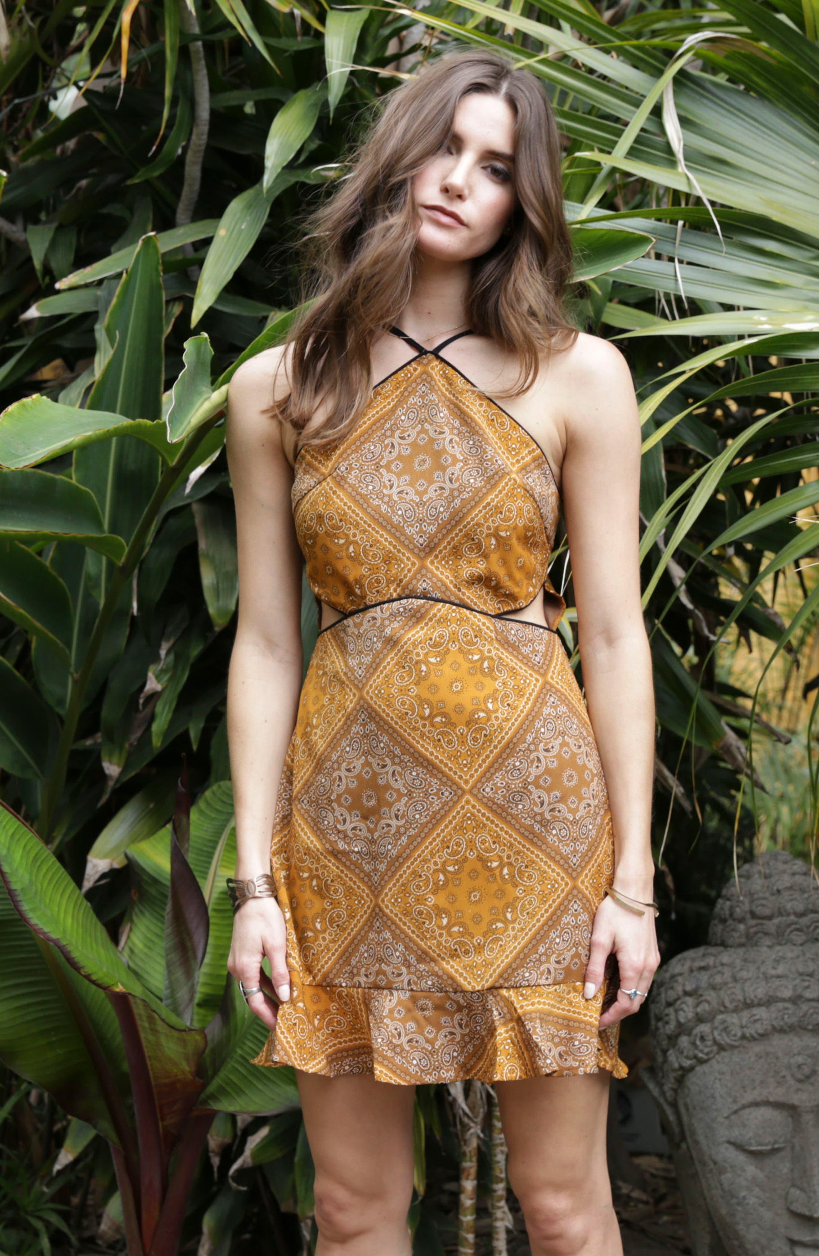Bandana Bella Dress,                             Alternate thumbnail 2, color,                             Honey