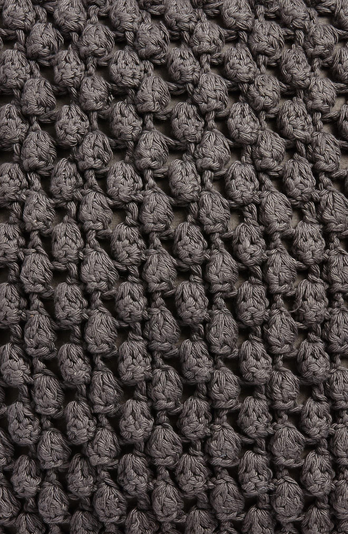 Pebble Knit Accent Pillow,                             Alternate thumbnail 3, color,                             Grey Onyx