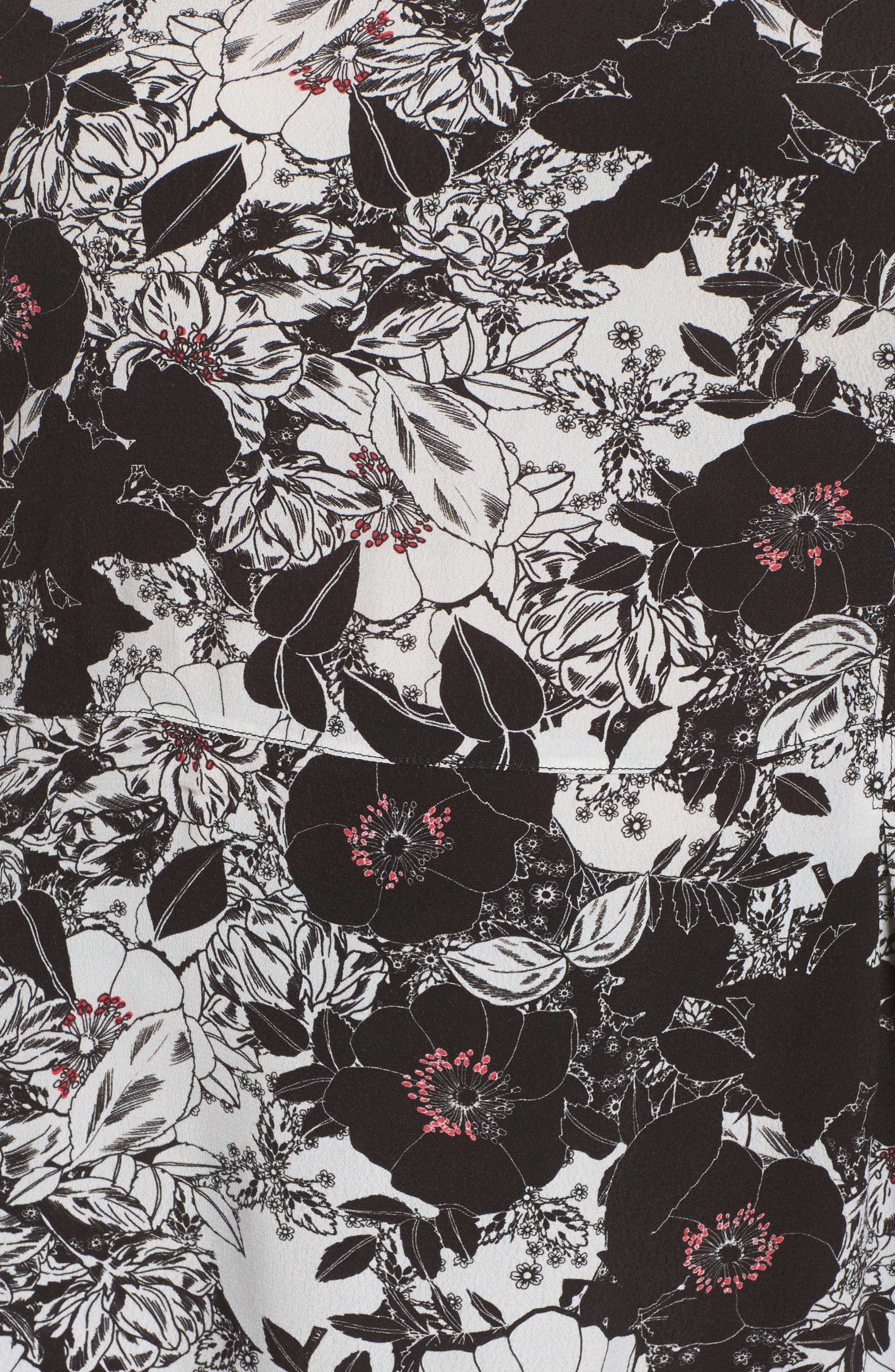 Alternate Image 5  - Sejour Smocked Sleeve Top (Plus Size)