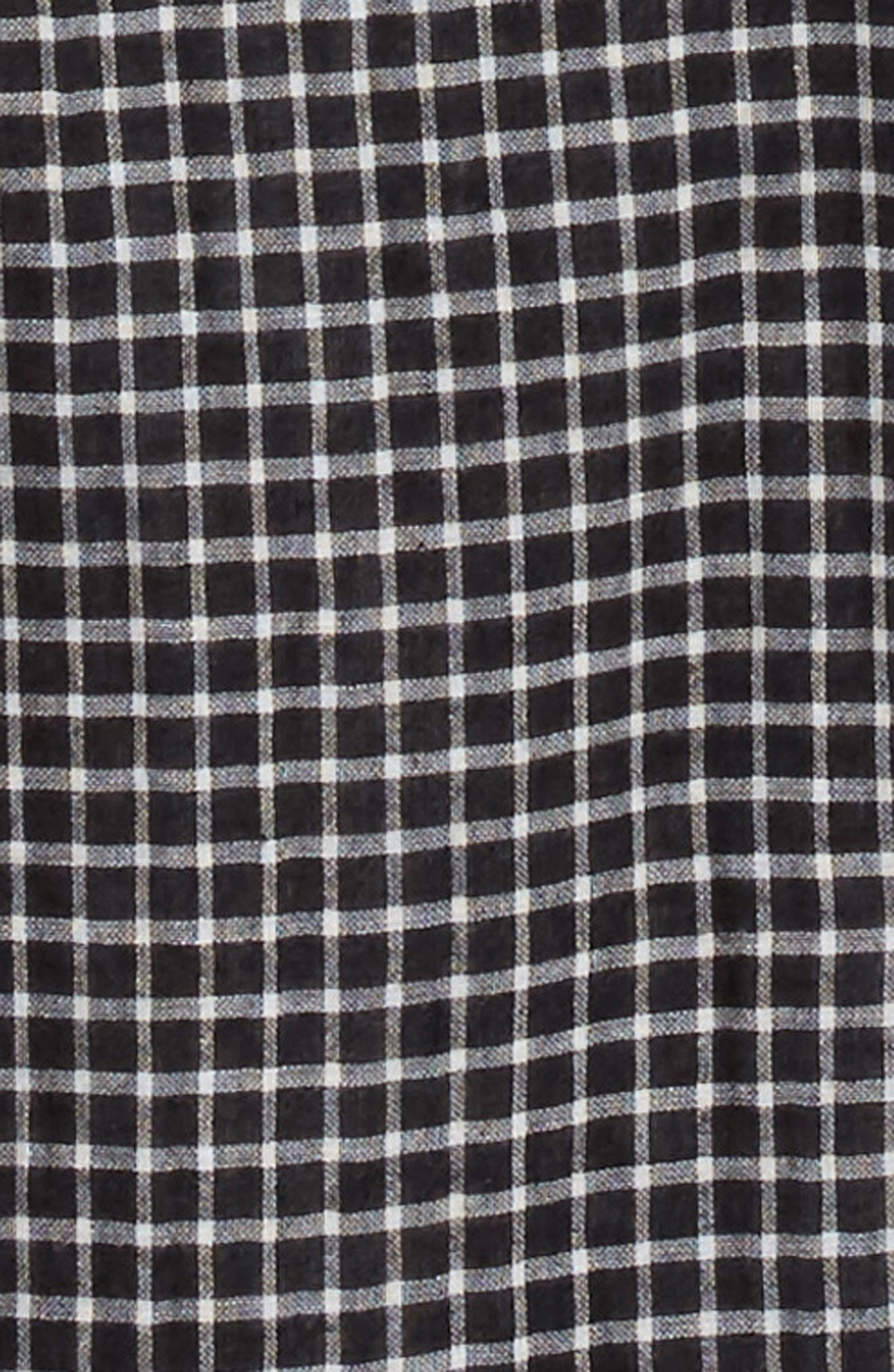 Check Pattern Woven Shirt,                             Alternate thumbnail 2, color,                             Black- Ivory Check