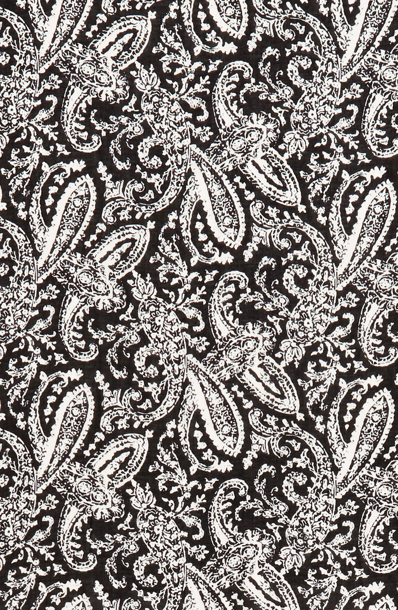 Ornament Paisley Scarf,                             Alternate thumbnail 4, color,                             Black