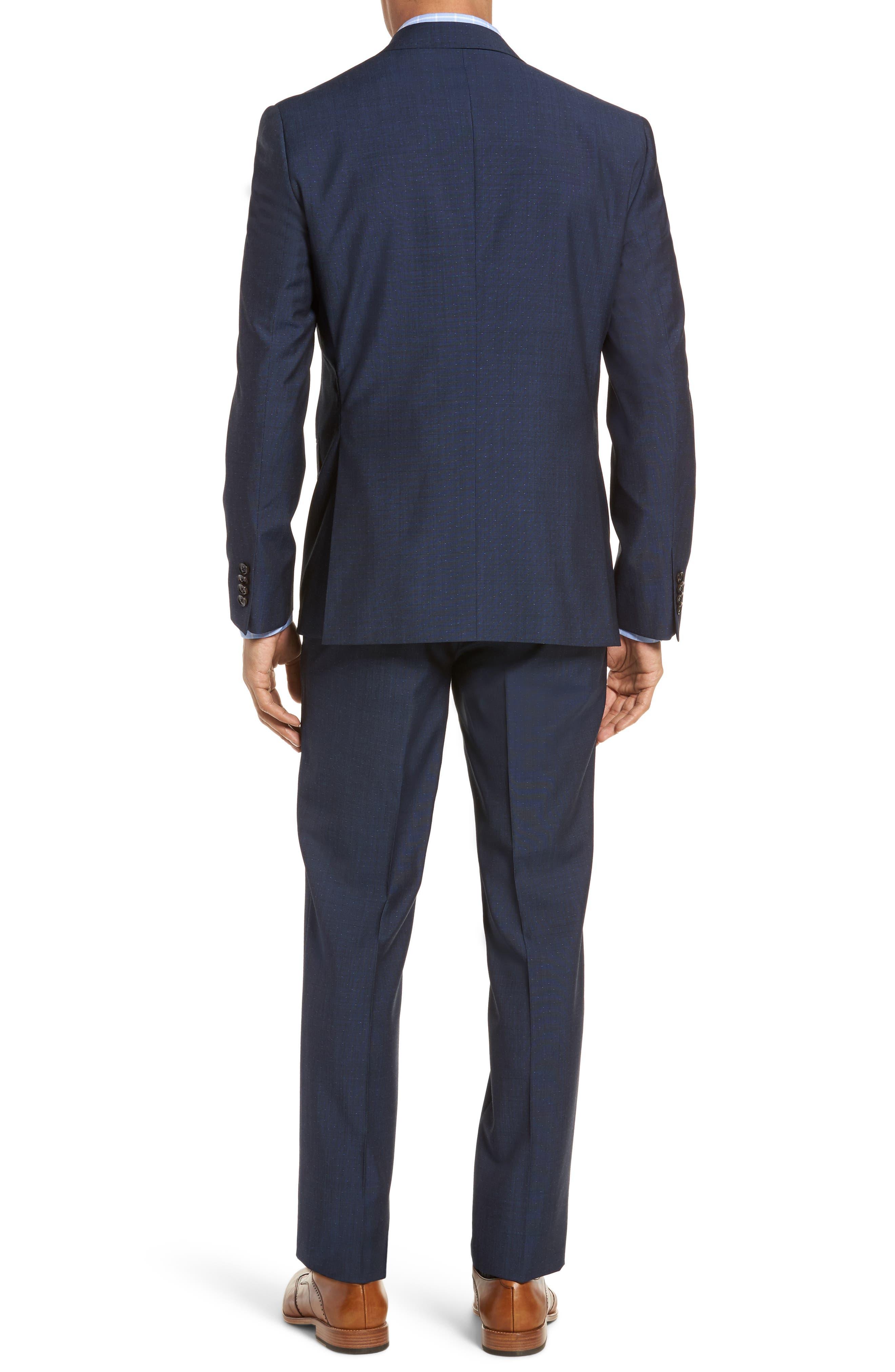Roger Extra Slim Fit Dot Wool Suit,                             Alternate thumbnail 2, color,                             Dark Blue