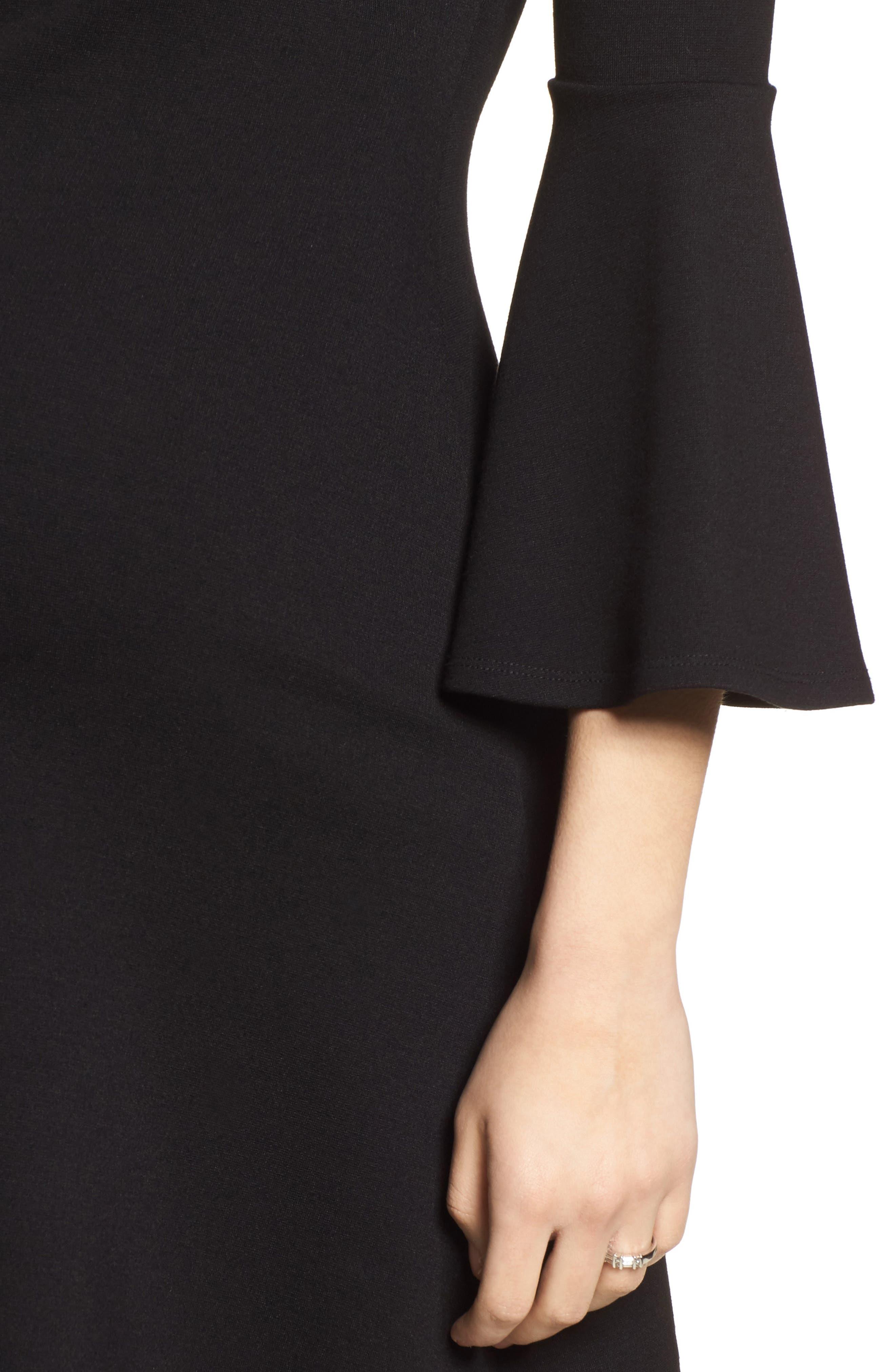 Natalia Maternity Dress,                             Alternate thumbnail 4, color,                             Caviar Black