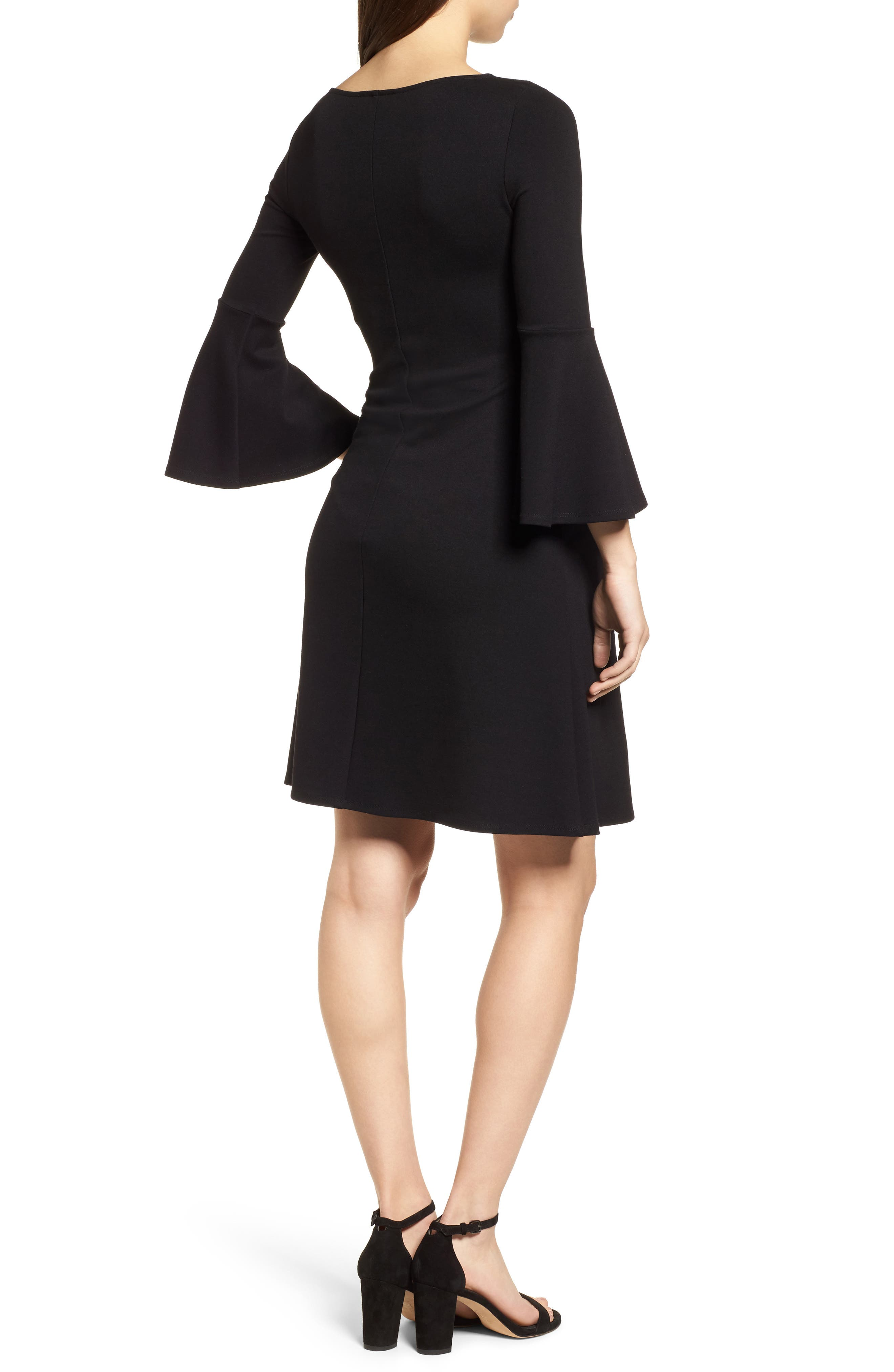 Natalia Maternity Dress,                             Alternate thumbnail 2, color,                             Caviar Black
