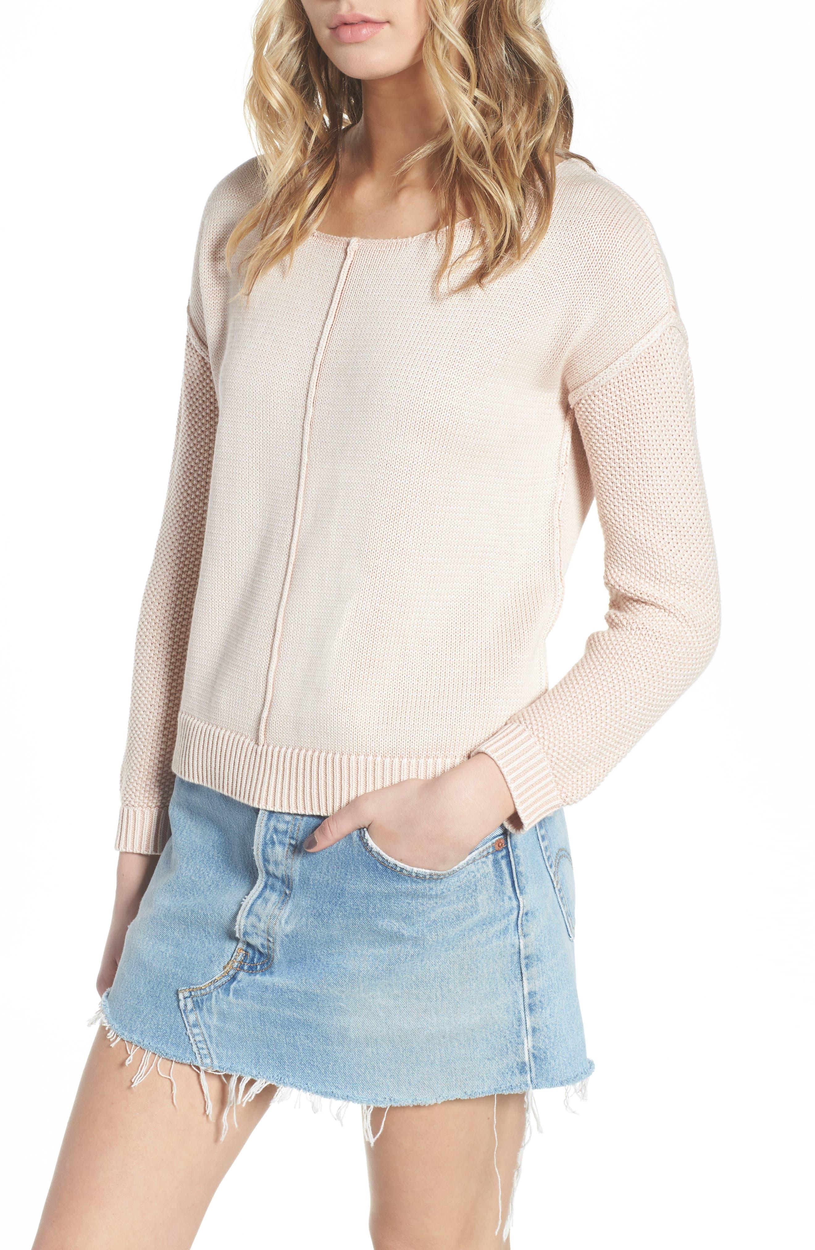 Erin Knit Sweater,                         Main,                         color, Sand Washed Blush