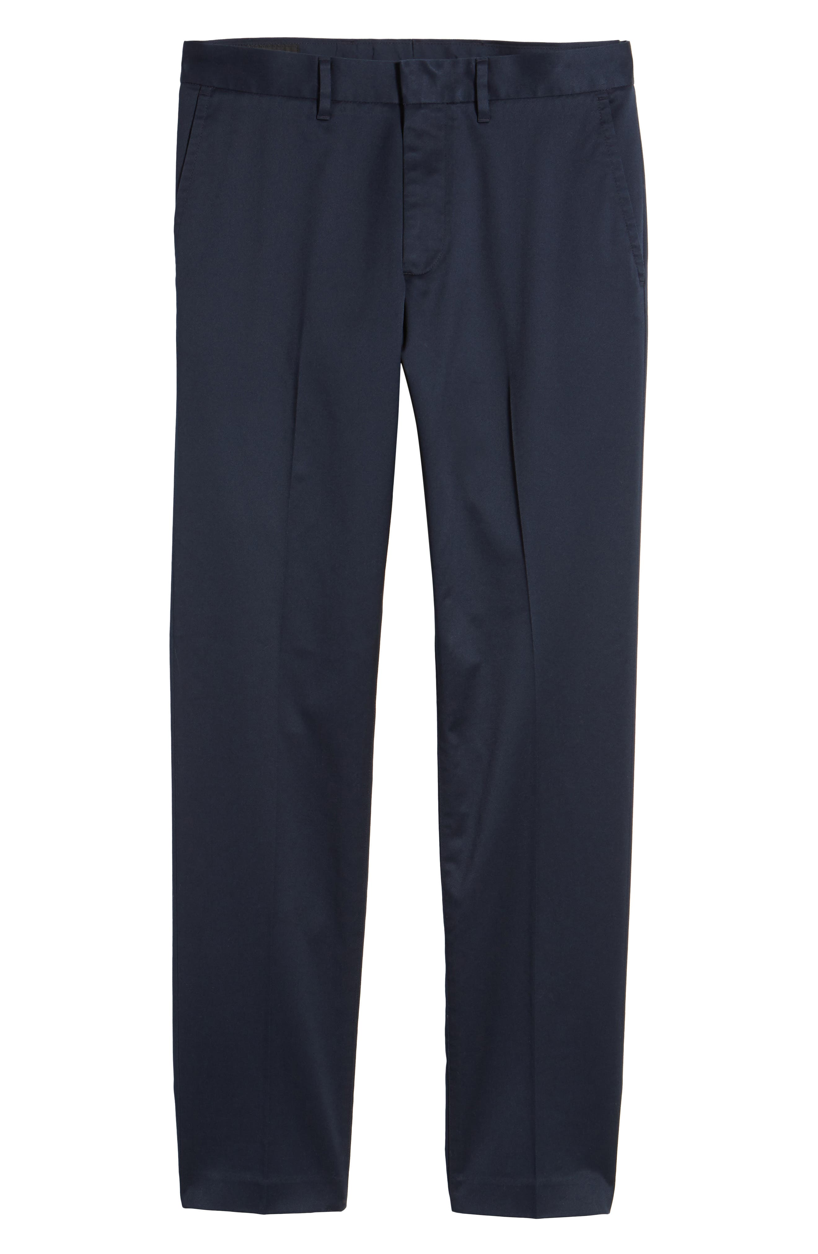 Slim Fit Non-Iron Chinos,                             Alternate thumbnail 6, color,                             Navy Eclipse